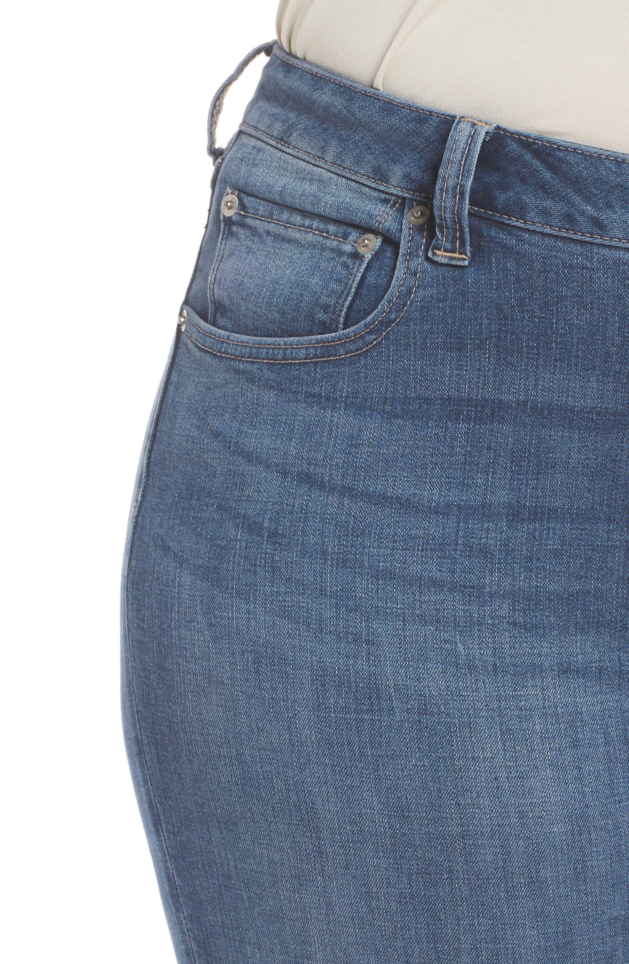Emma Crop Skinny Jeans,                             Alternate thumbnail 4, color,                             Sunbeam-P
