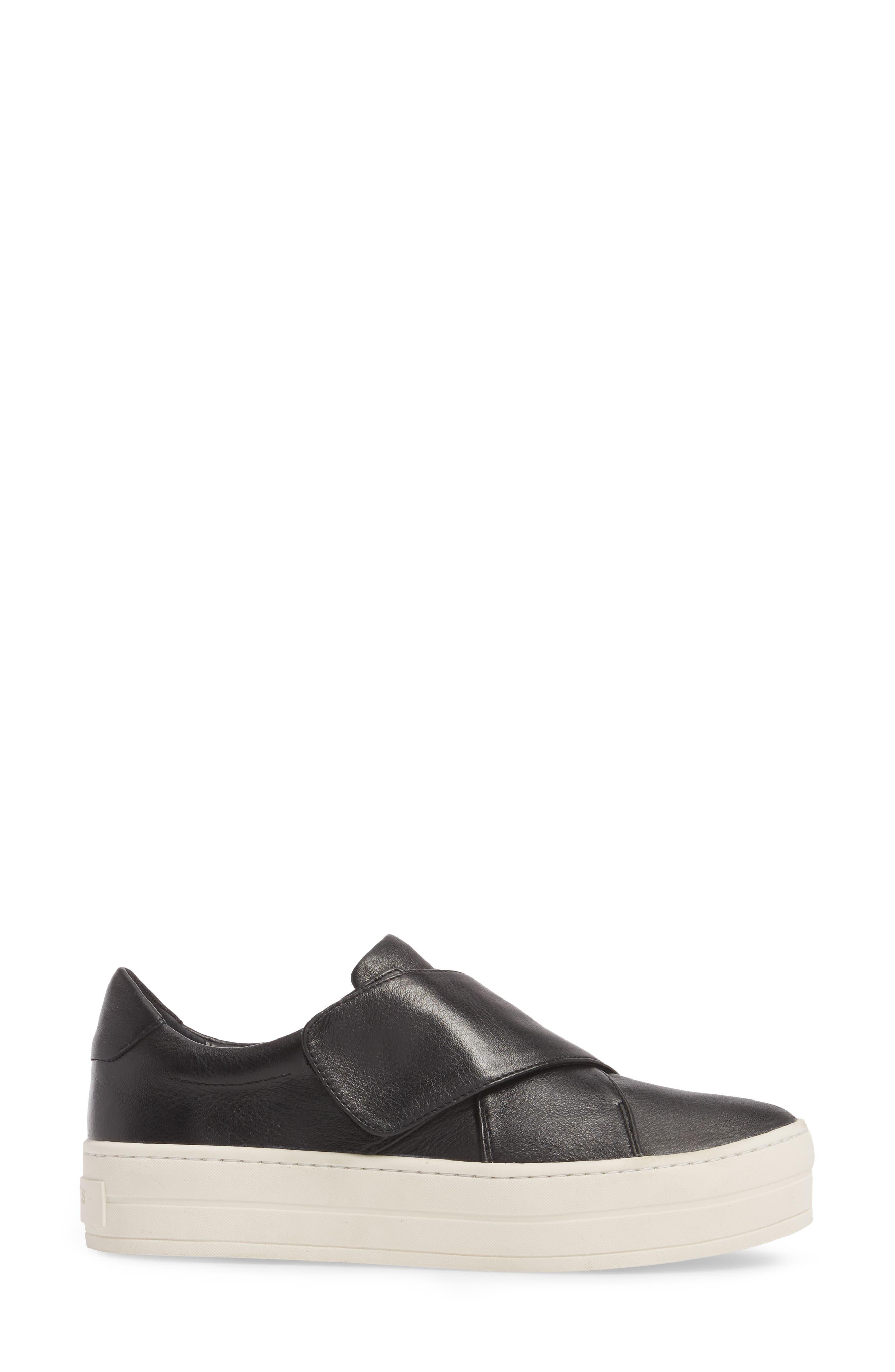 Harper Sneaker,                             Alternate thumbnail 3, color,                             Black Leather