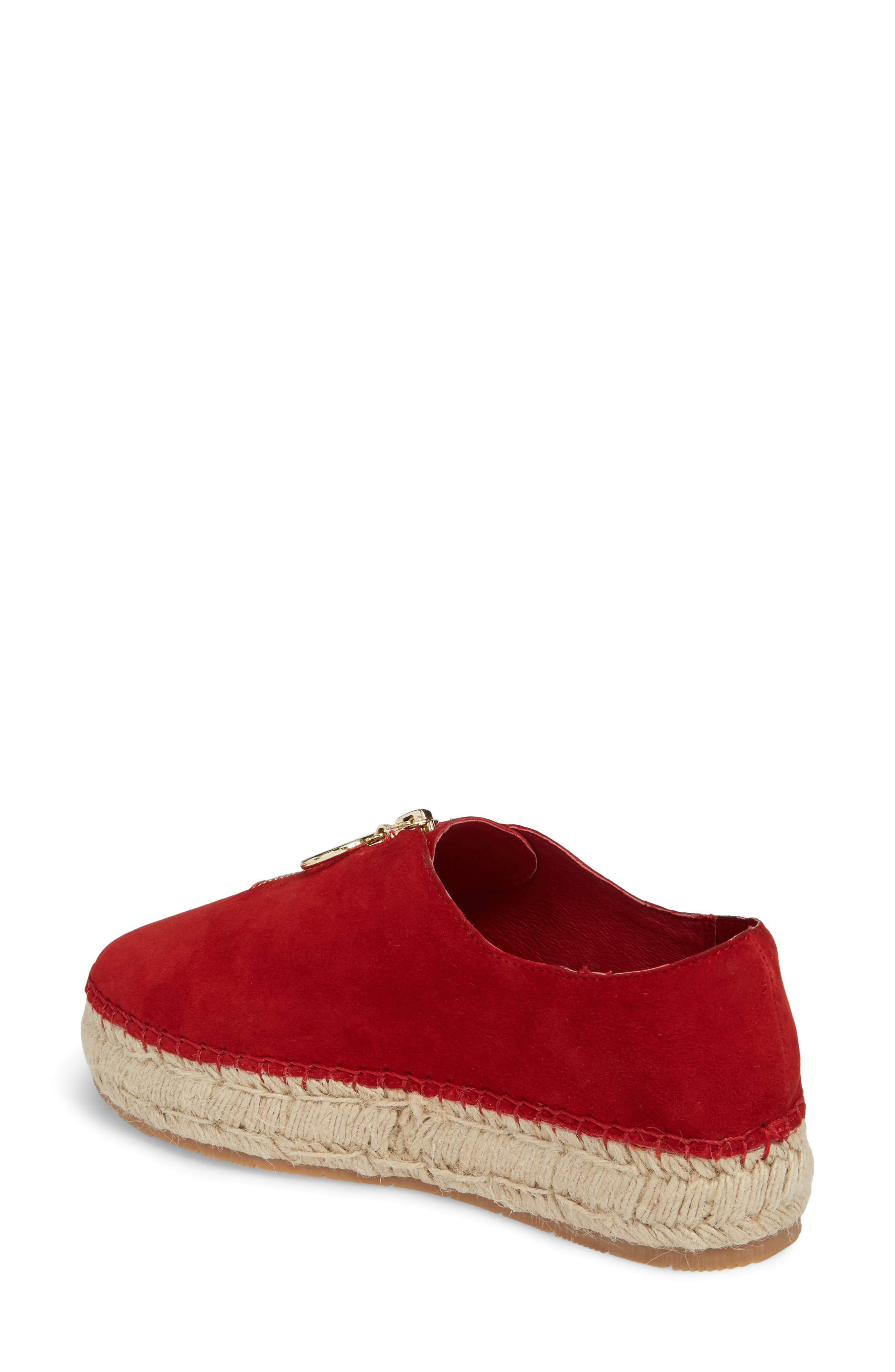 Ryan Espadrille Flat,                             Alternate thumbnail 2, color,                             Red Leather