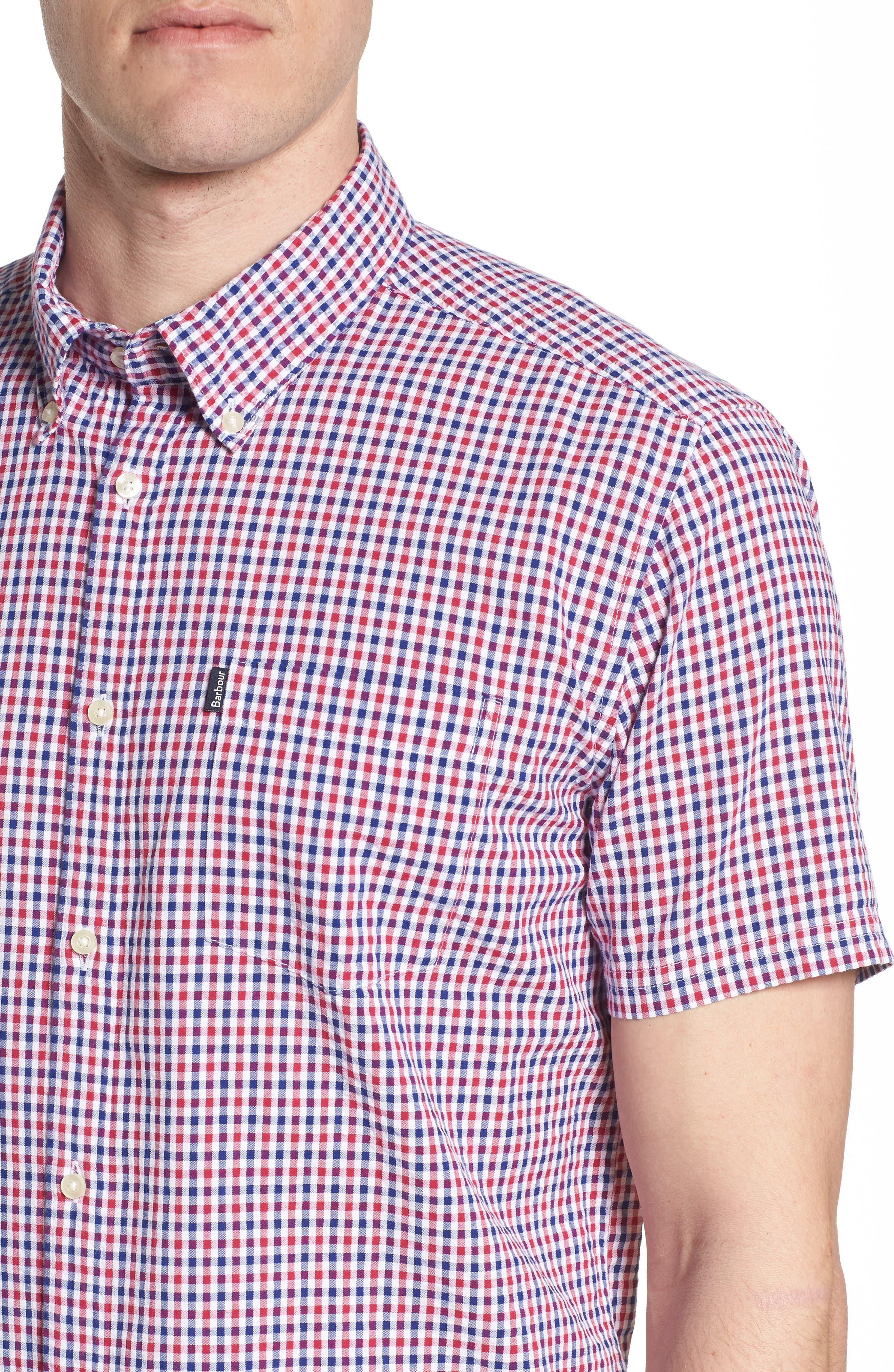 Taylor Regular Fit Check Short Sleeve Sport Shirt,                             Alternate thumbnail 2, color,                             Navy
