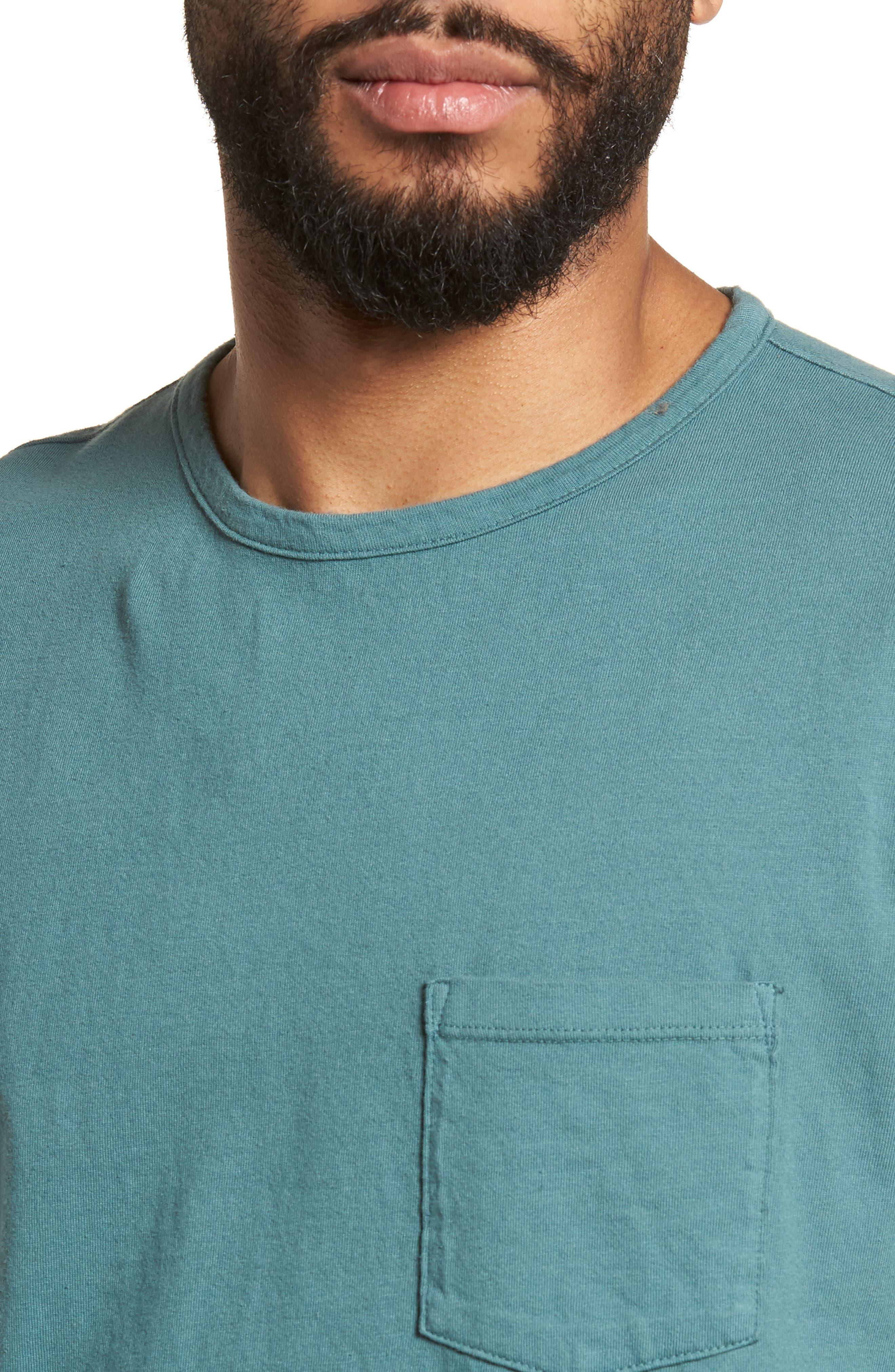 Pocket T-Shirt,                             Alternate thumbnail 4, color,                             Aqua