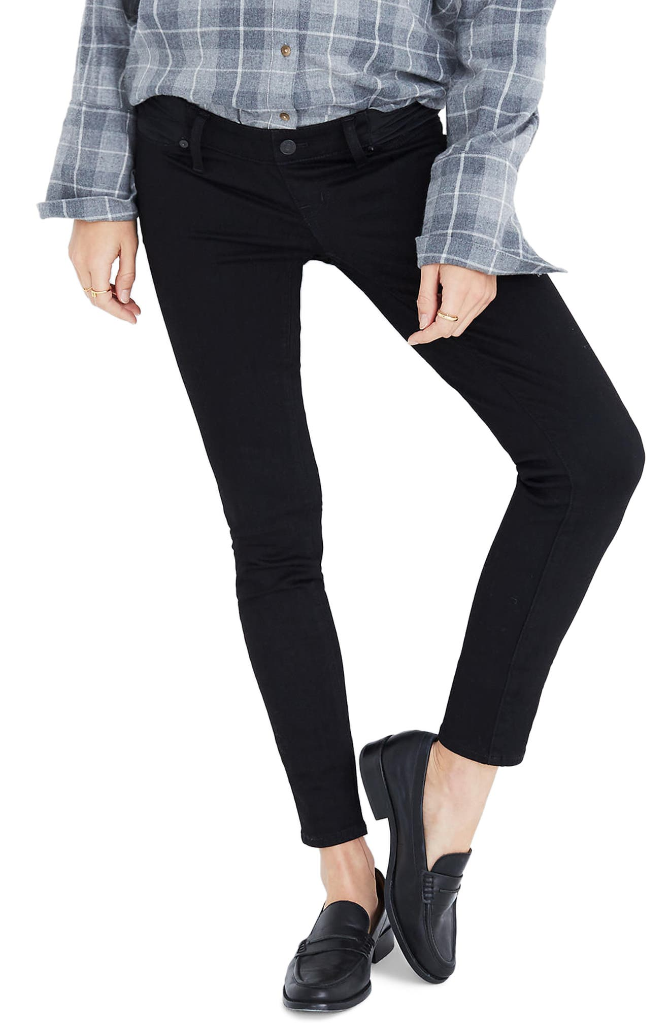 Maternity Skinny Jeans,                         Main,                         color, Black Frost