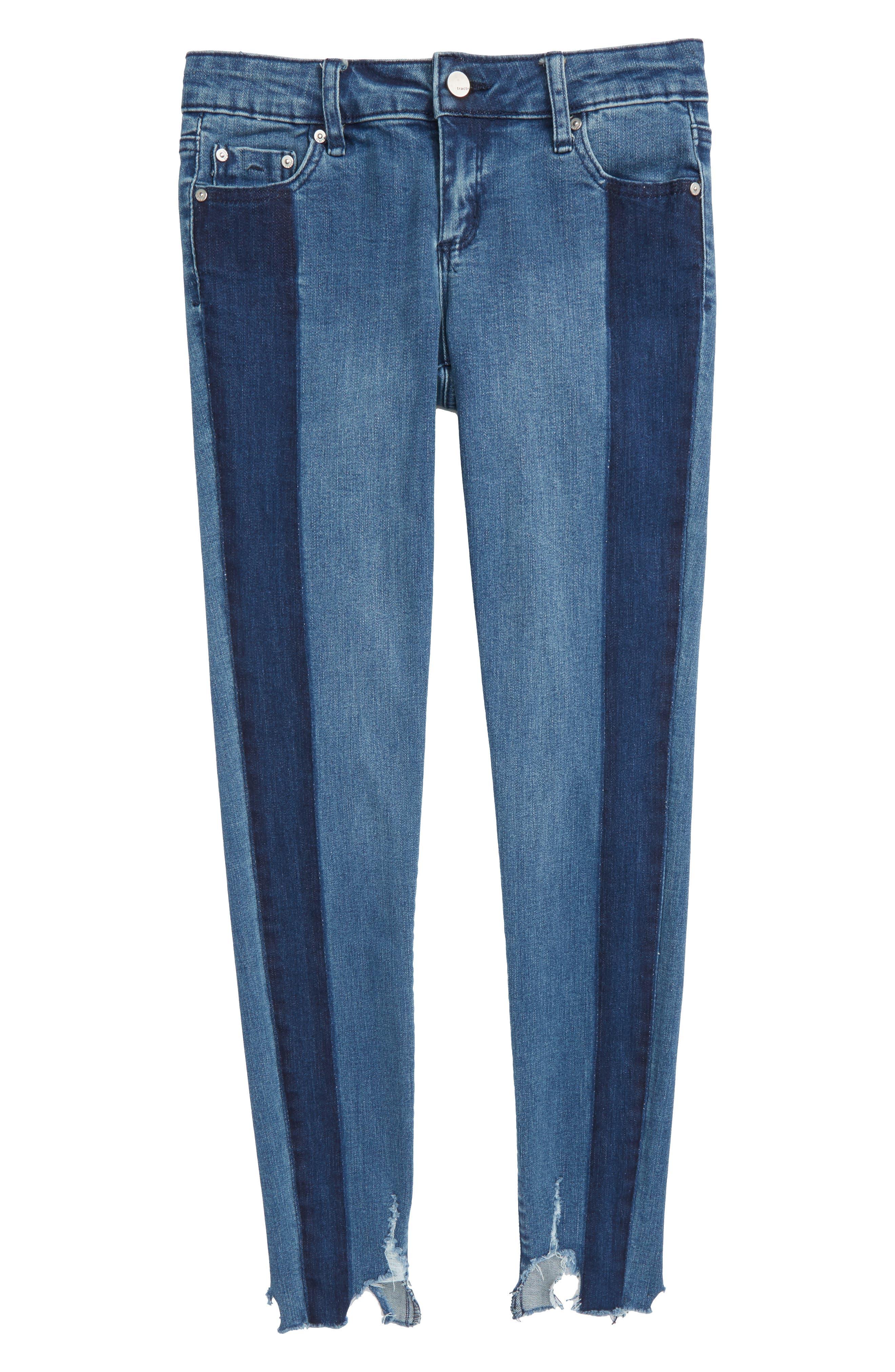 Main Image - Tractr Crop Skinny Jeans (Big Girls)