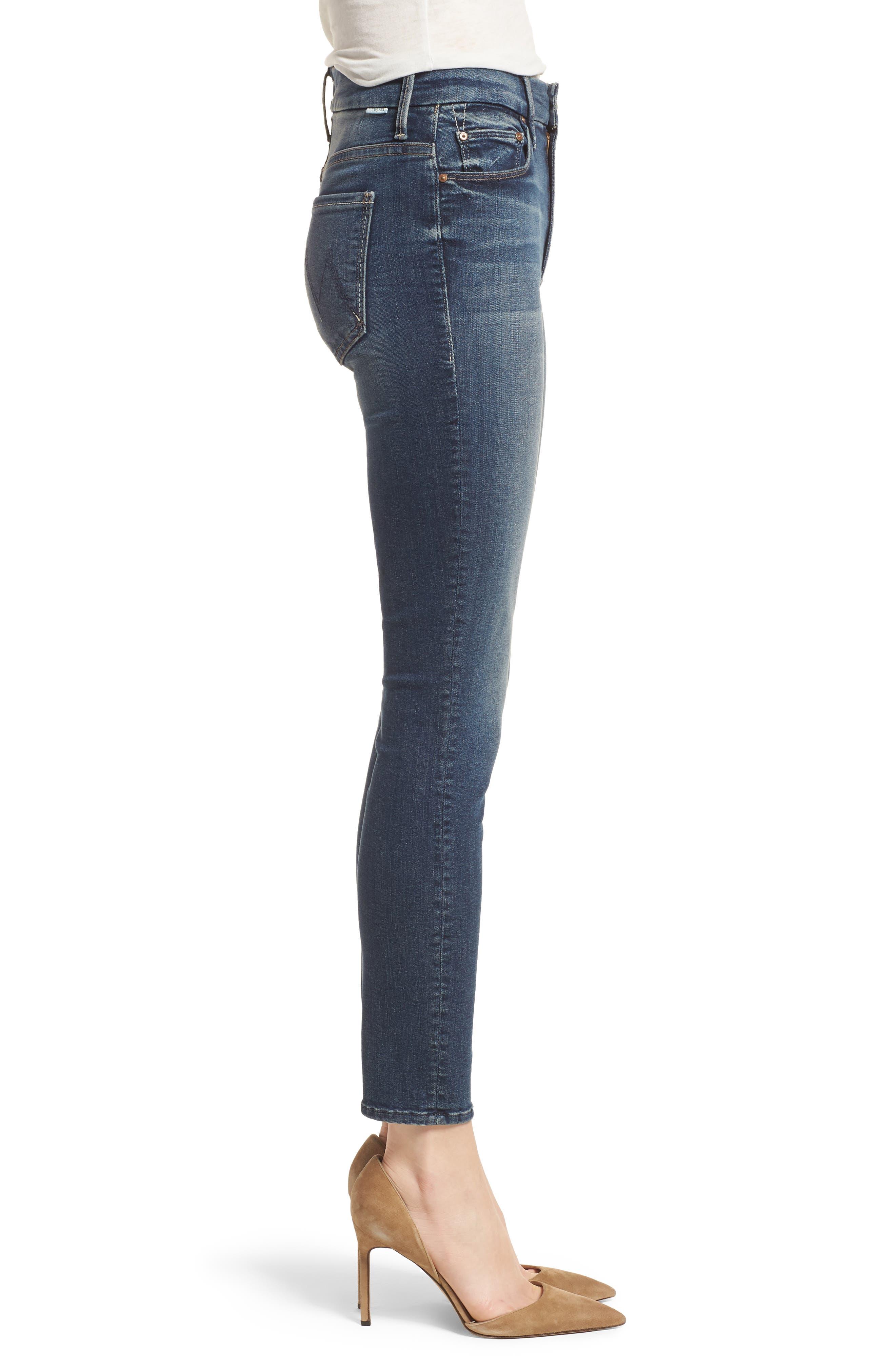 The Looker High Waist Crop Skinny Jeans,                             Alternate thumbnail 3, color,                             Bake Sale Brawl