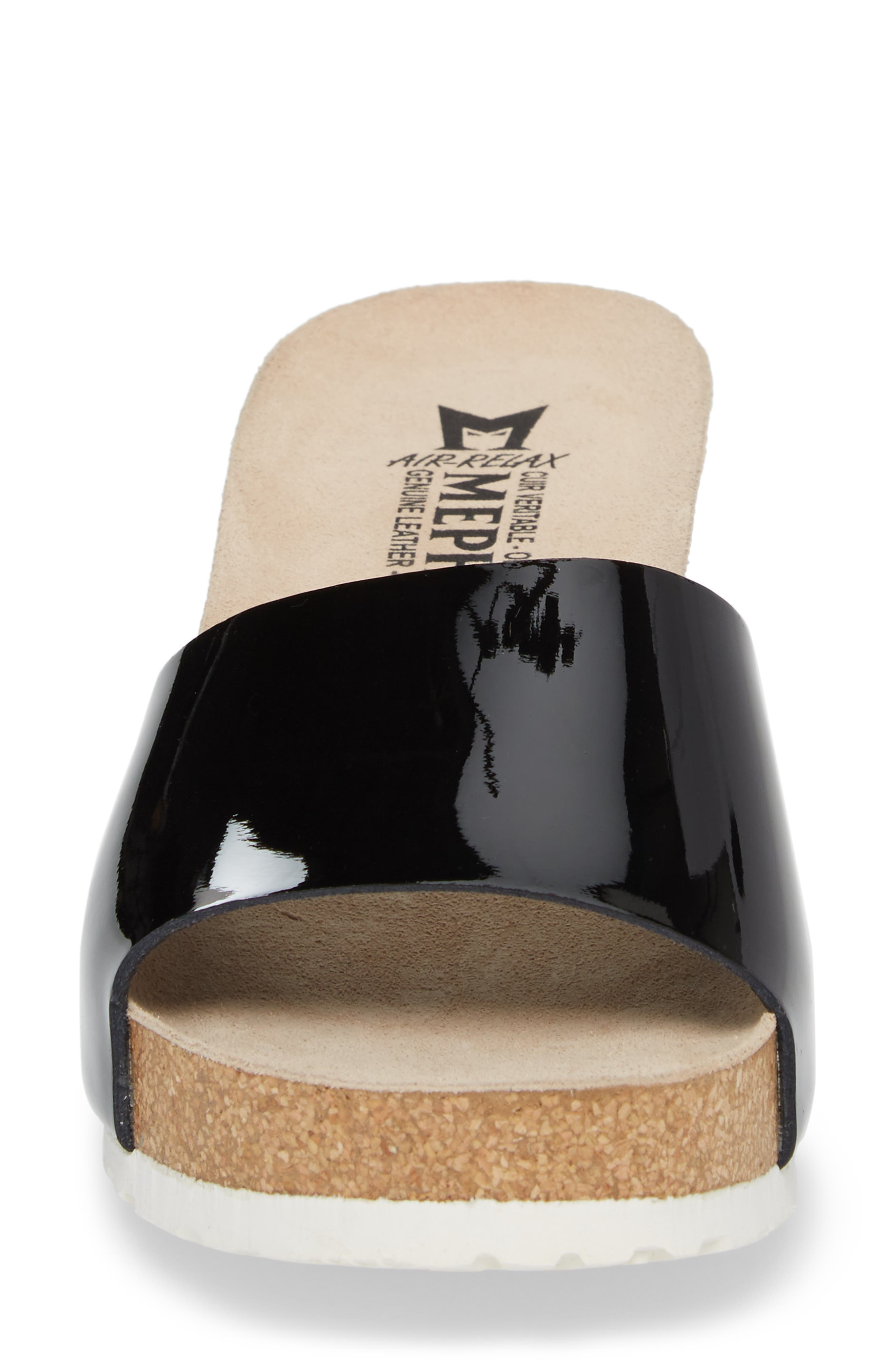 Lise Platform Wedge Sandal,                             Alternate thumbnail 4, color,                             Black