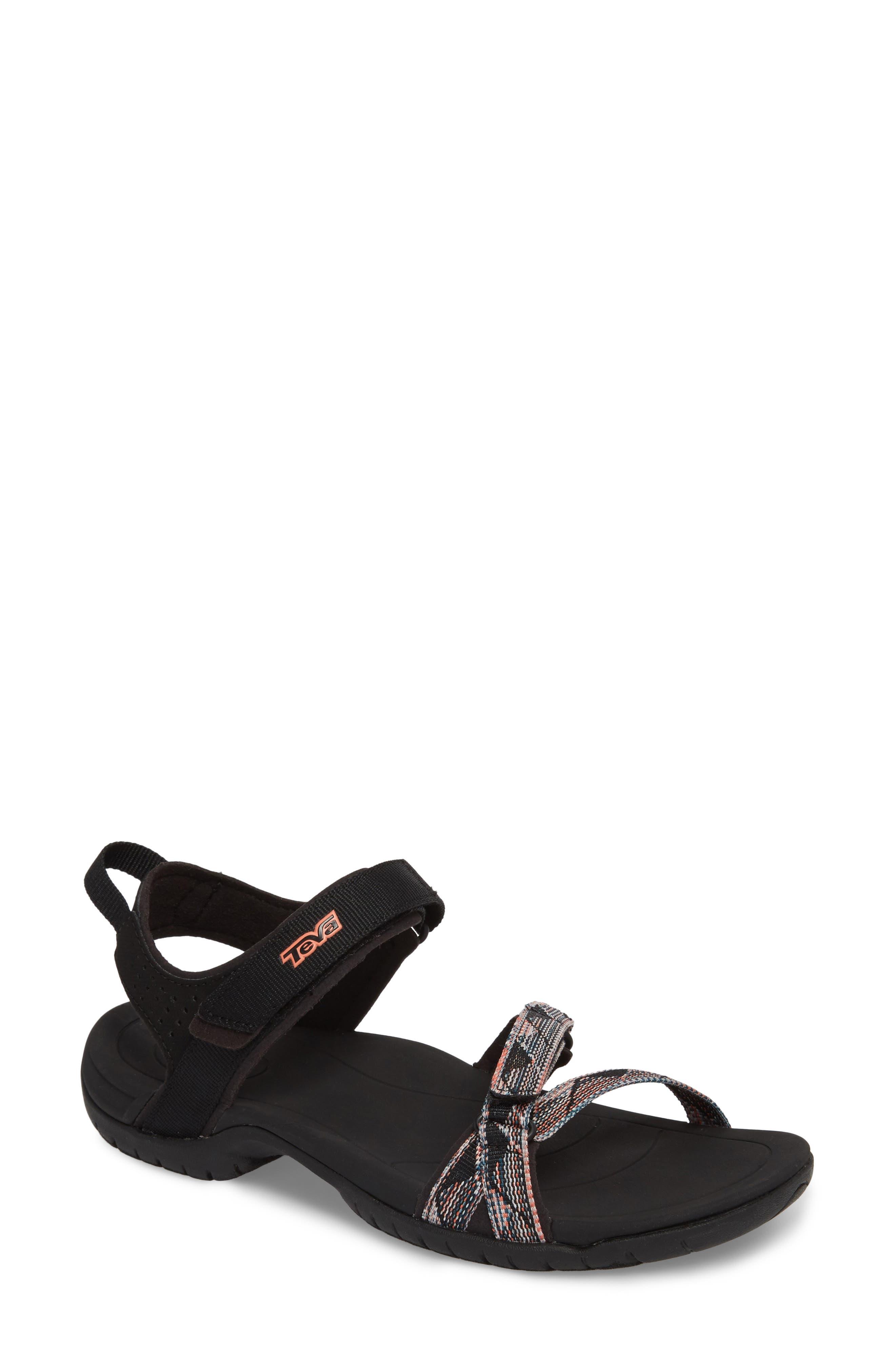 'Verra' Sandal,                             Main thumbnail 1, color,                             Suri Black Multi