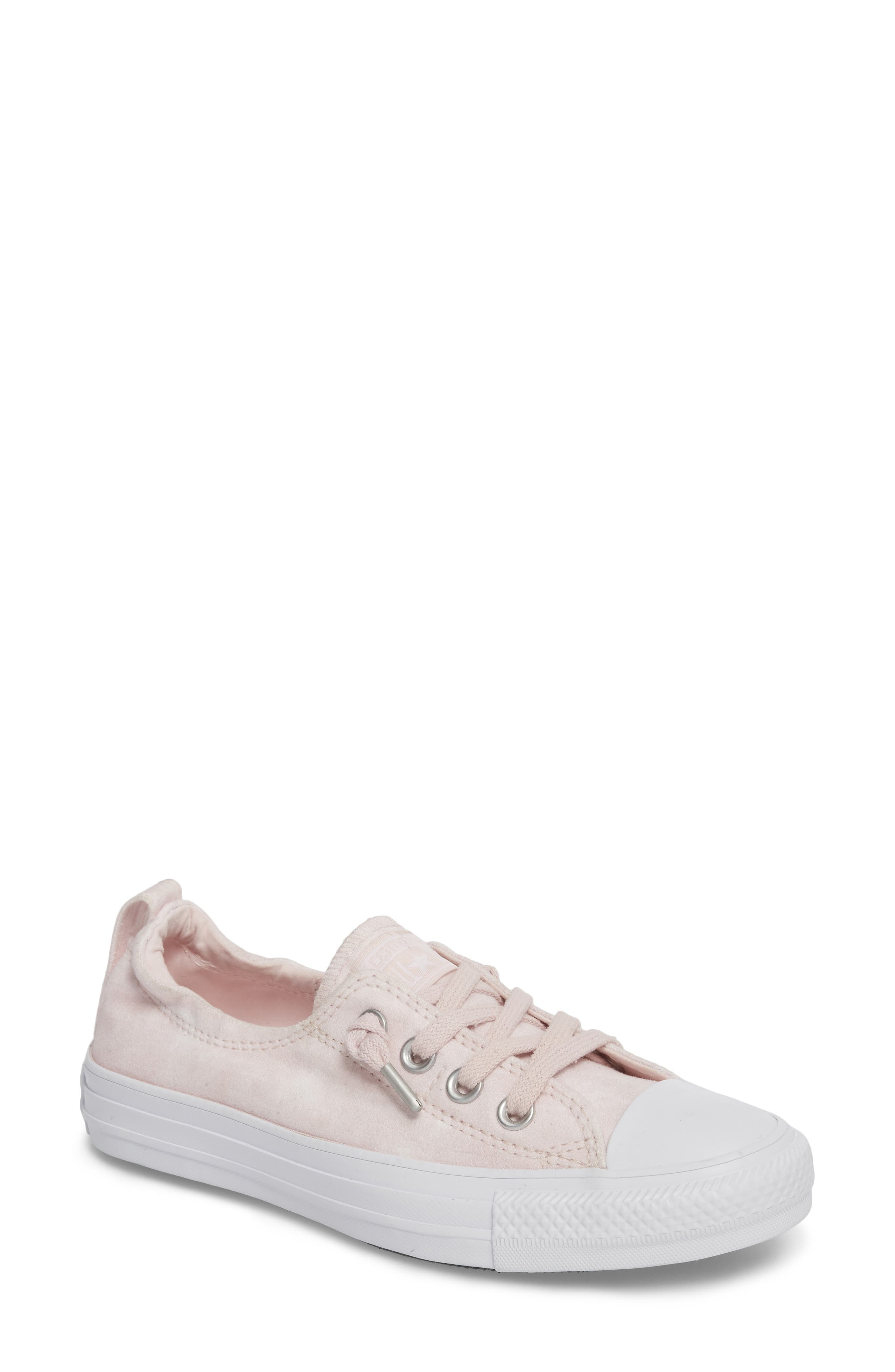 Chuck Taylor<sup>®</sup> All Star<sup>®</sup> Shoreline Peached Twill Sneaker,                             Main thumbnail 1, color,                             Barely Rose