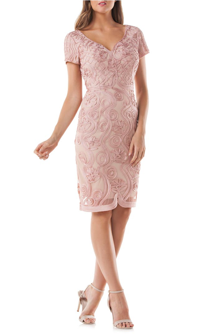 Main Image - JS Collections Soutache Mesh Sheath Dress