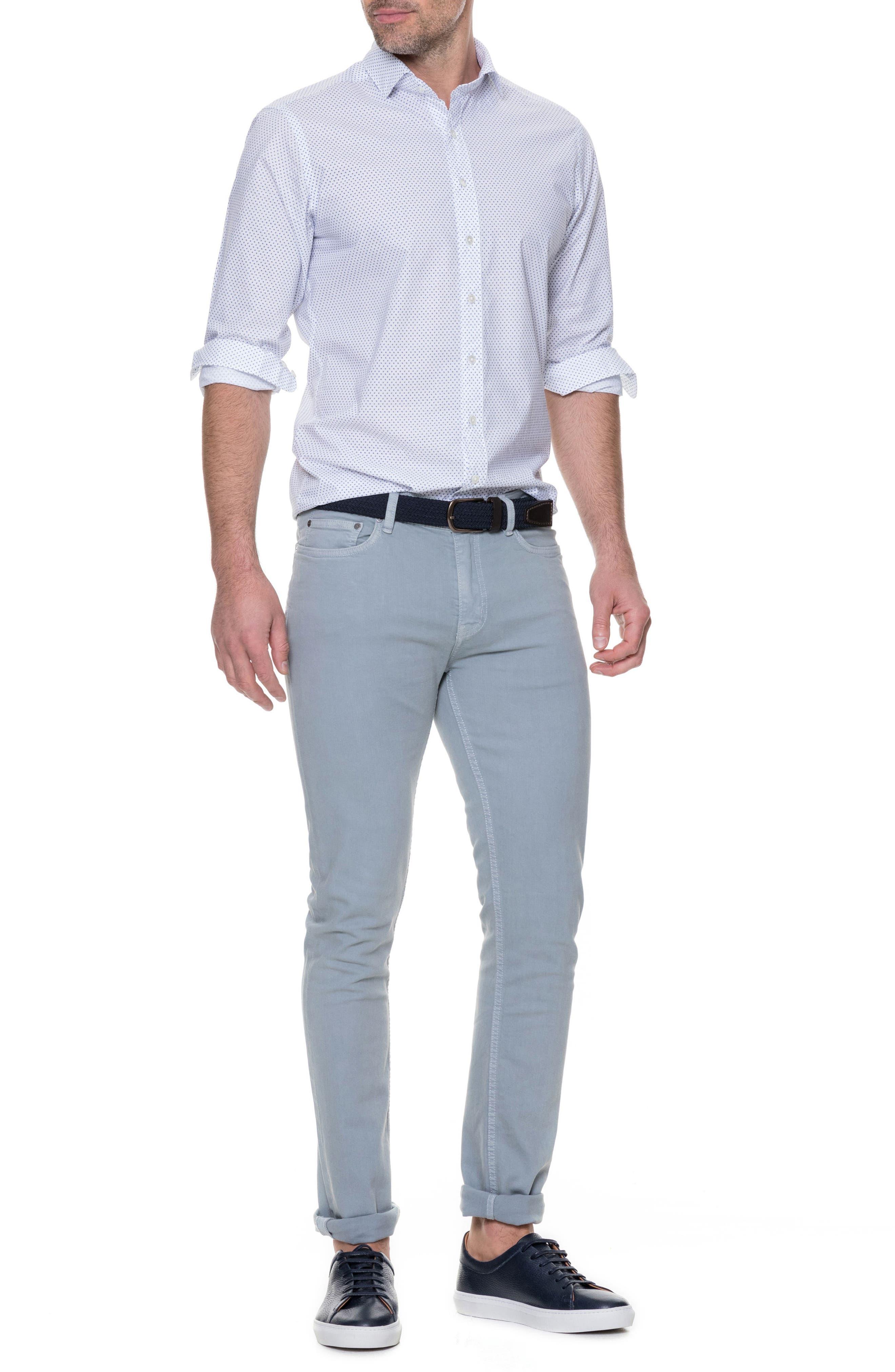 Butler Point Slim Fit Sport Shirt,                             Alternate thumbnail 5, color,                             Snow