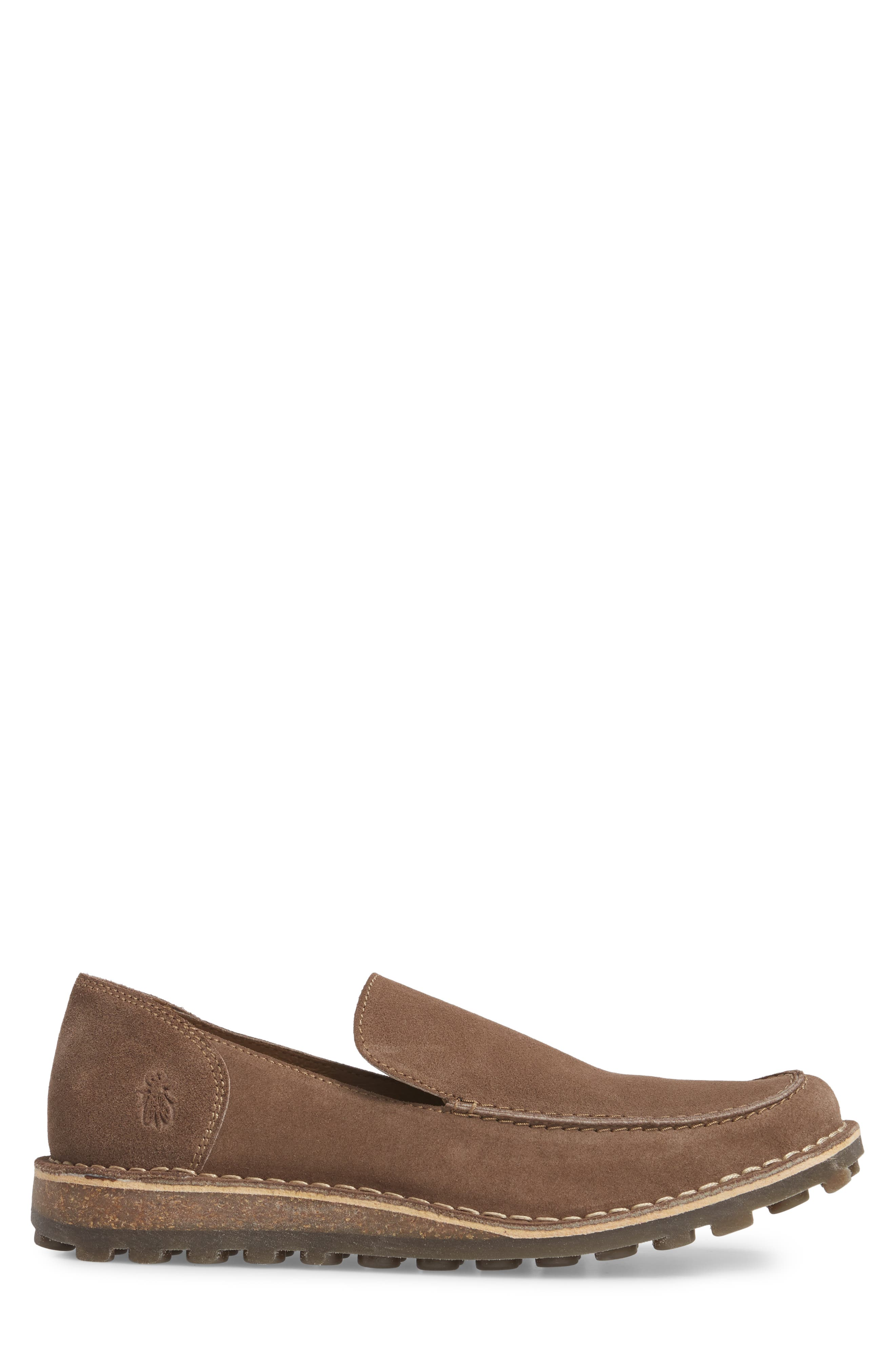 Meve Moc Toe Loafer,                             Alternate thumbnail 3, color,                             Taupe Suede