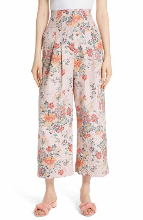 Rebecca Taylor Marlena Floral Crop Pants