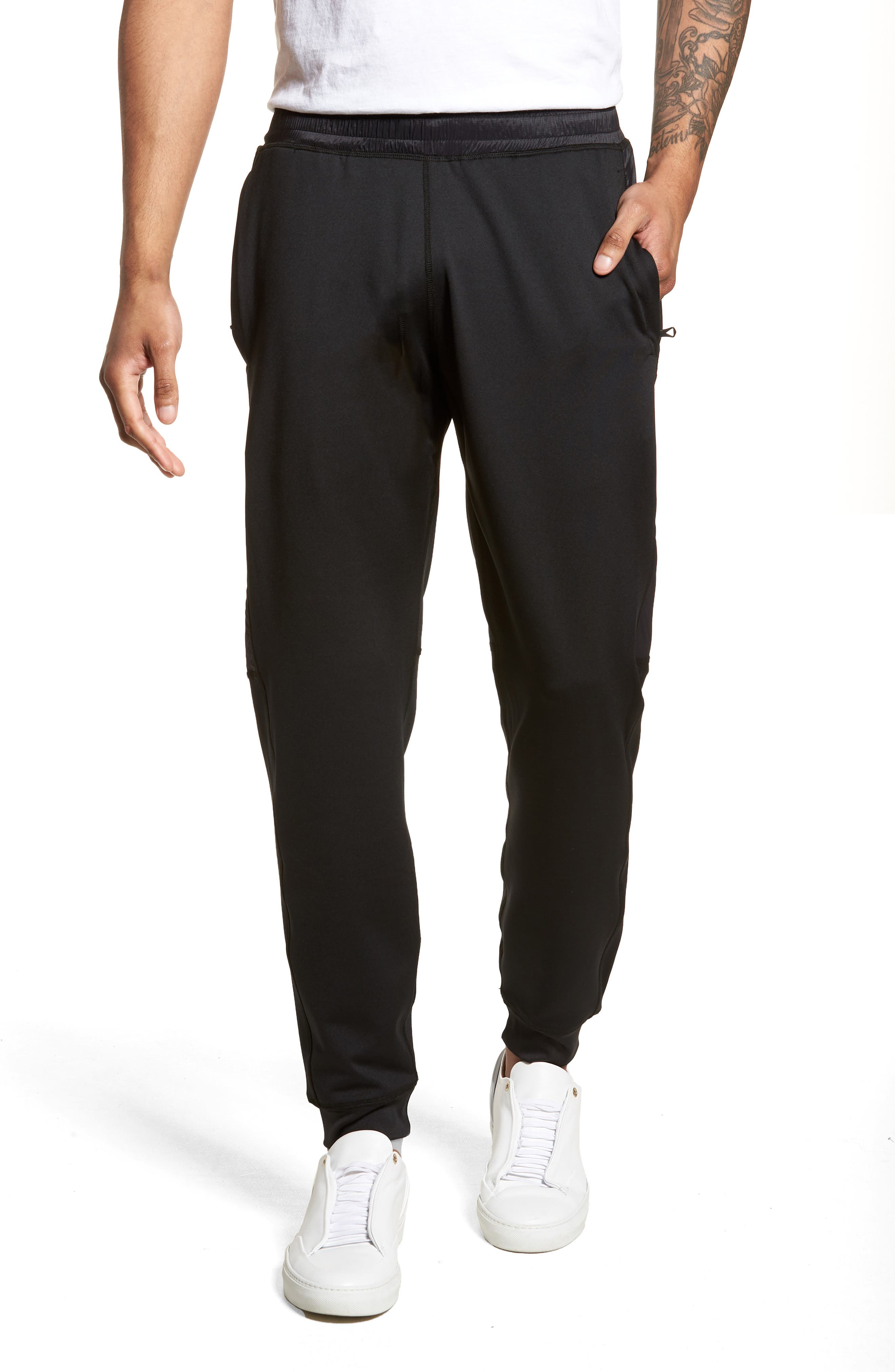 Hybrid CoolMax<sup>®</sup> Pants,                         Main,                         color, Black
