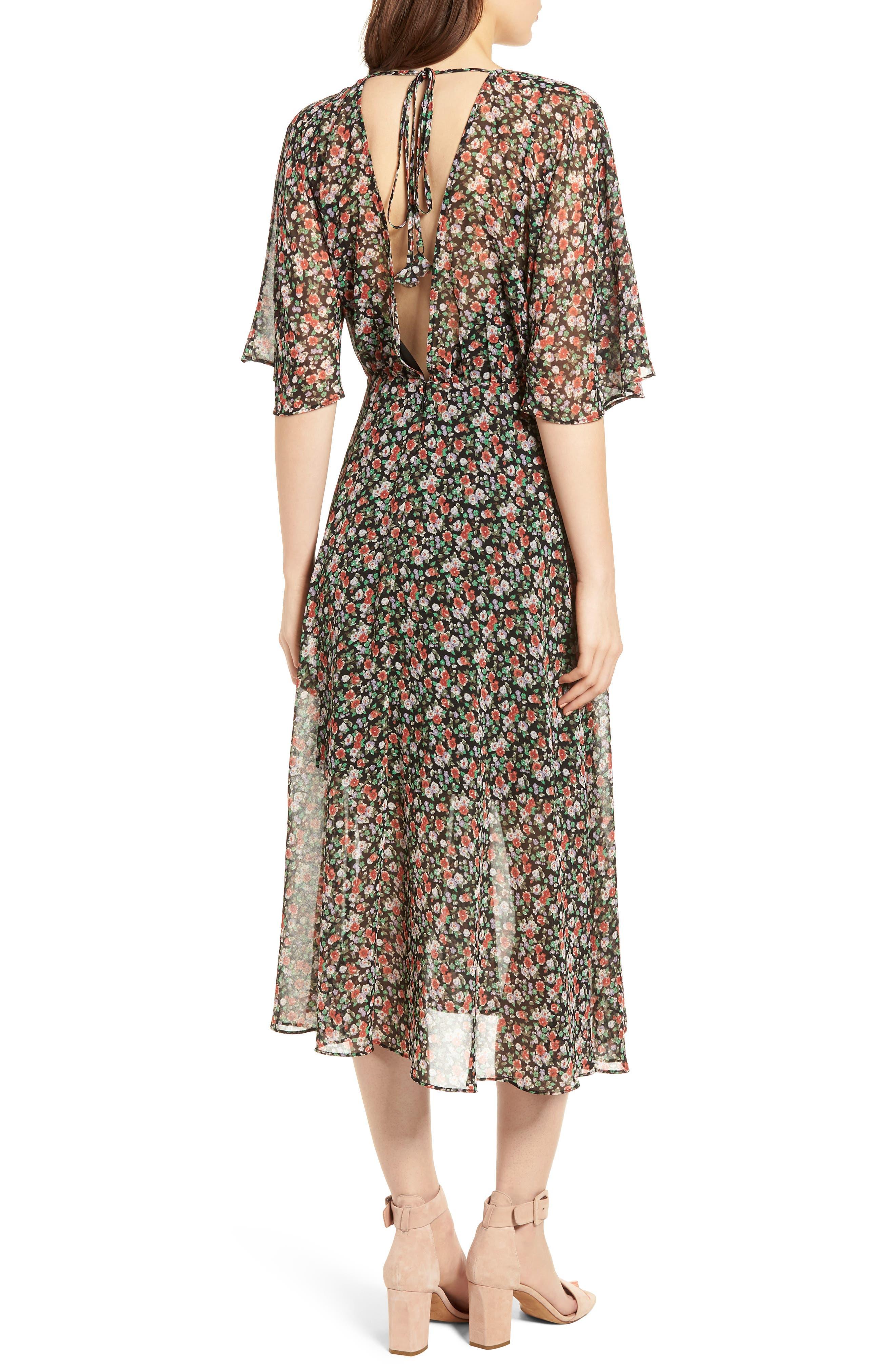 Ali Dress,                             Alternate thumbnail 2, color,                             Black Multi