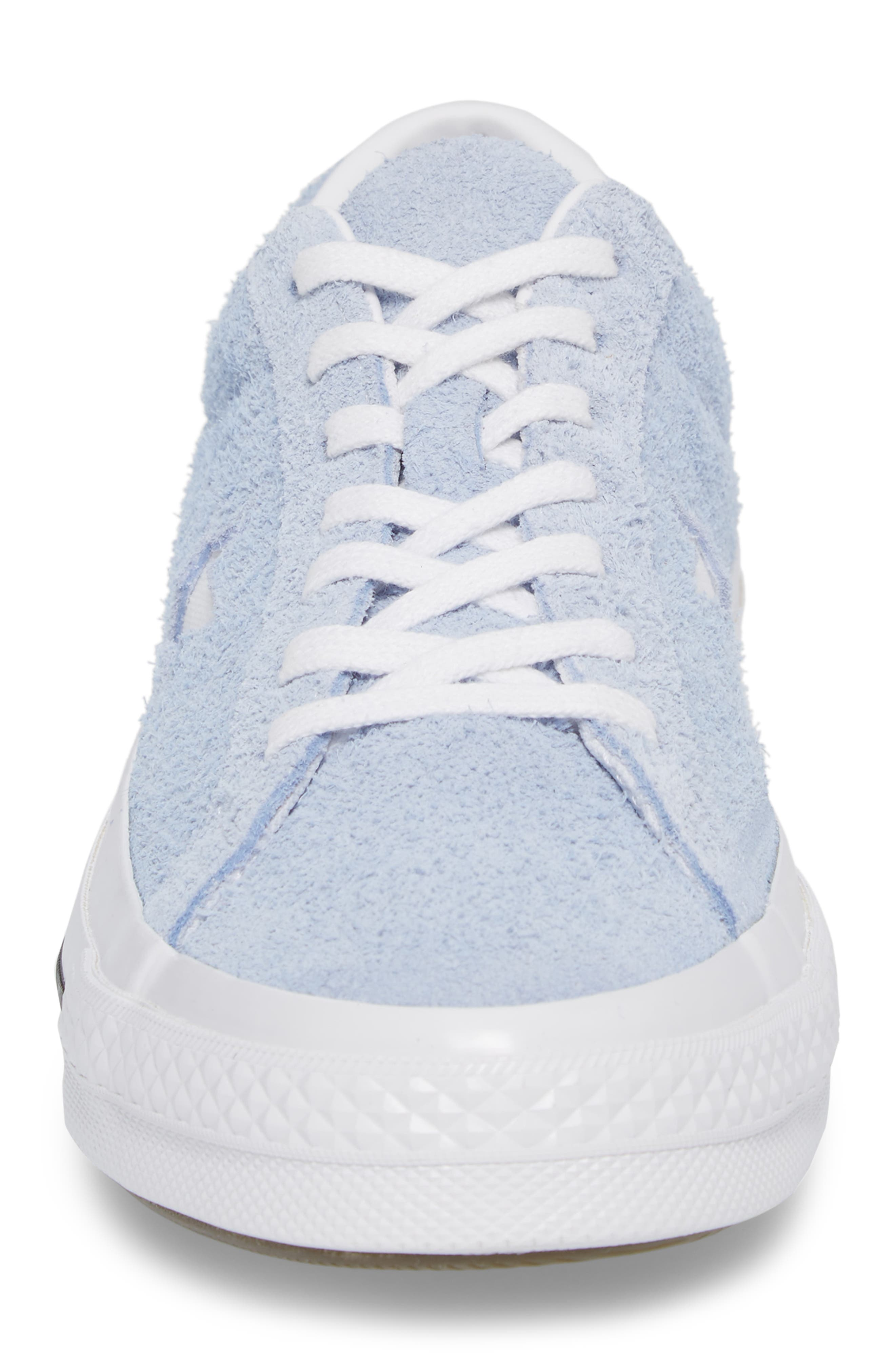 One Star Sneaker,                             Alternate thumbnail 4, color,                             Blue Chill Suede