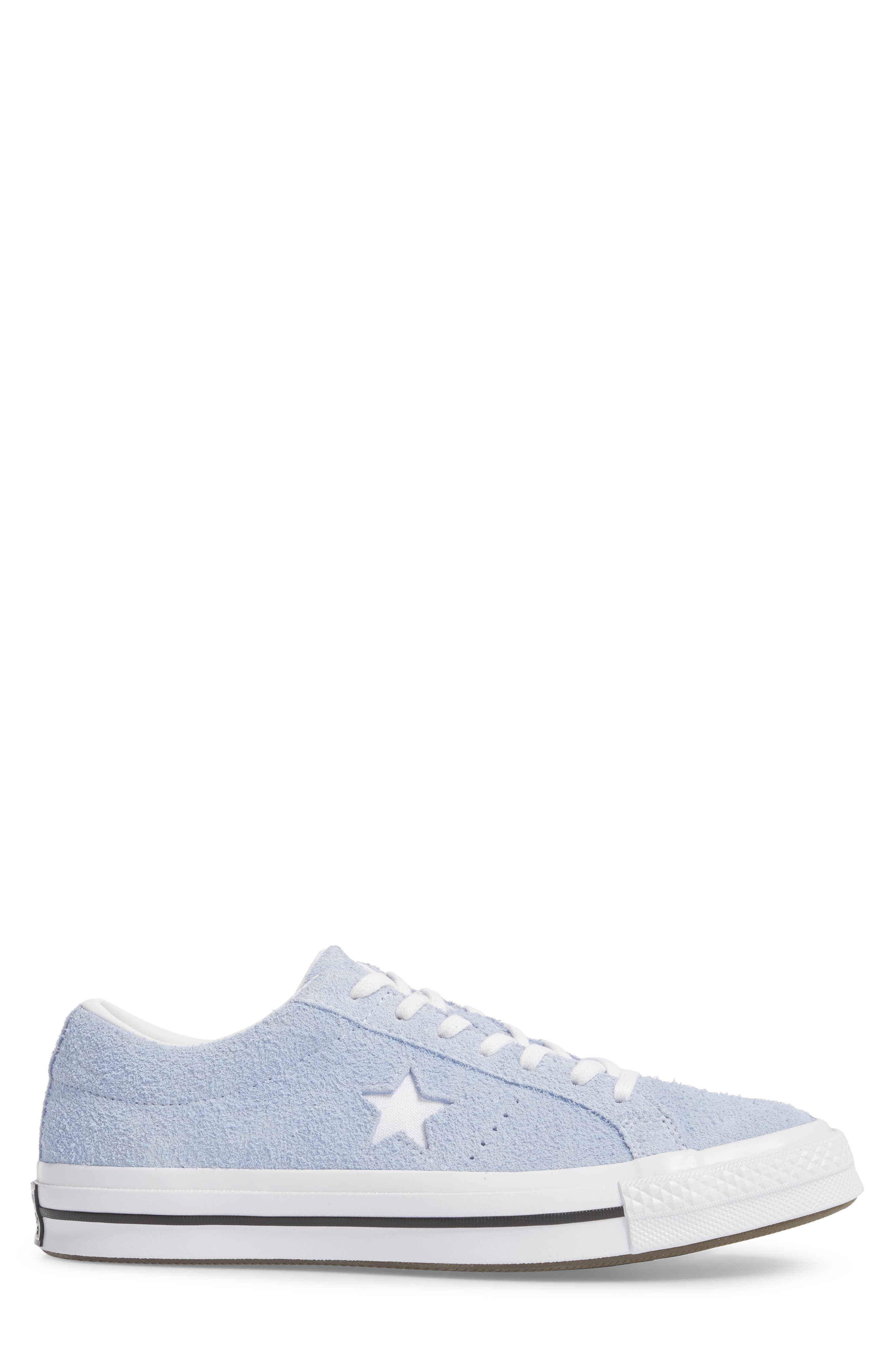 One Star Sneaker,                             Alternate thumbnail 3, color,                             Blue Chill Suede