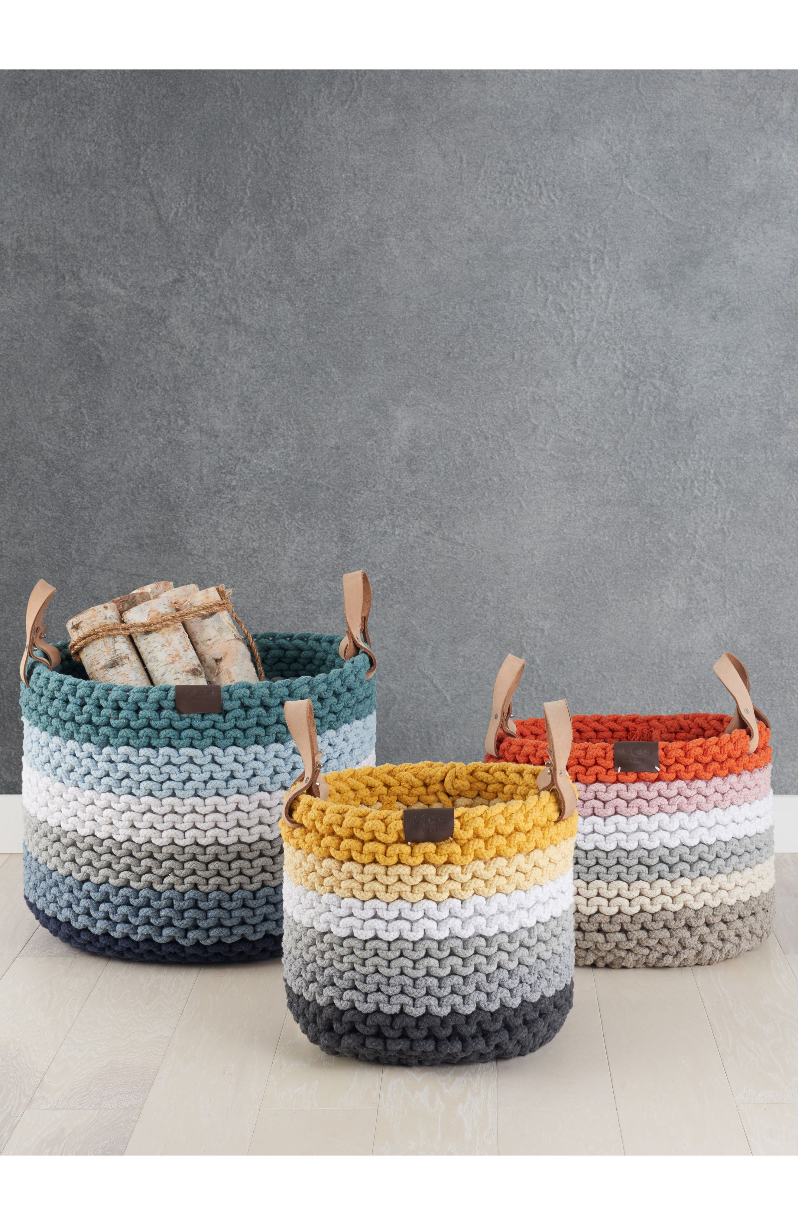 Rainbow Rope Basket,                             Alternate thumbnail 2, color,                             Imperial