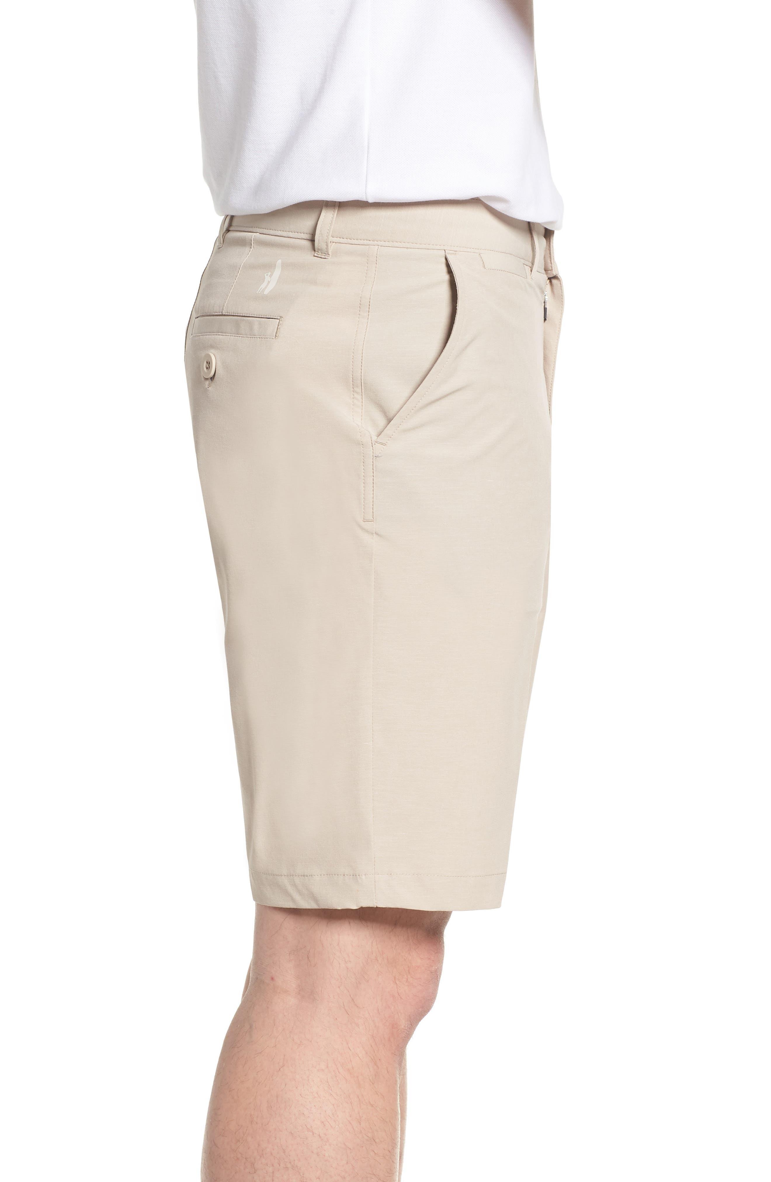 Wyatt Regular Fit Stretch Shorts,                             Alternate thumbnail 3, color,                             Stone
