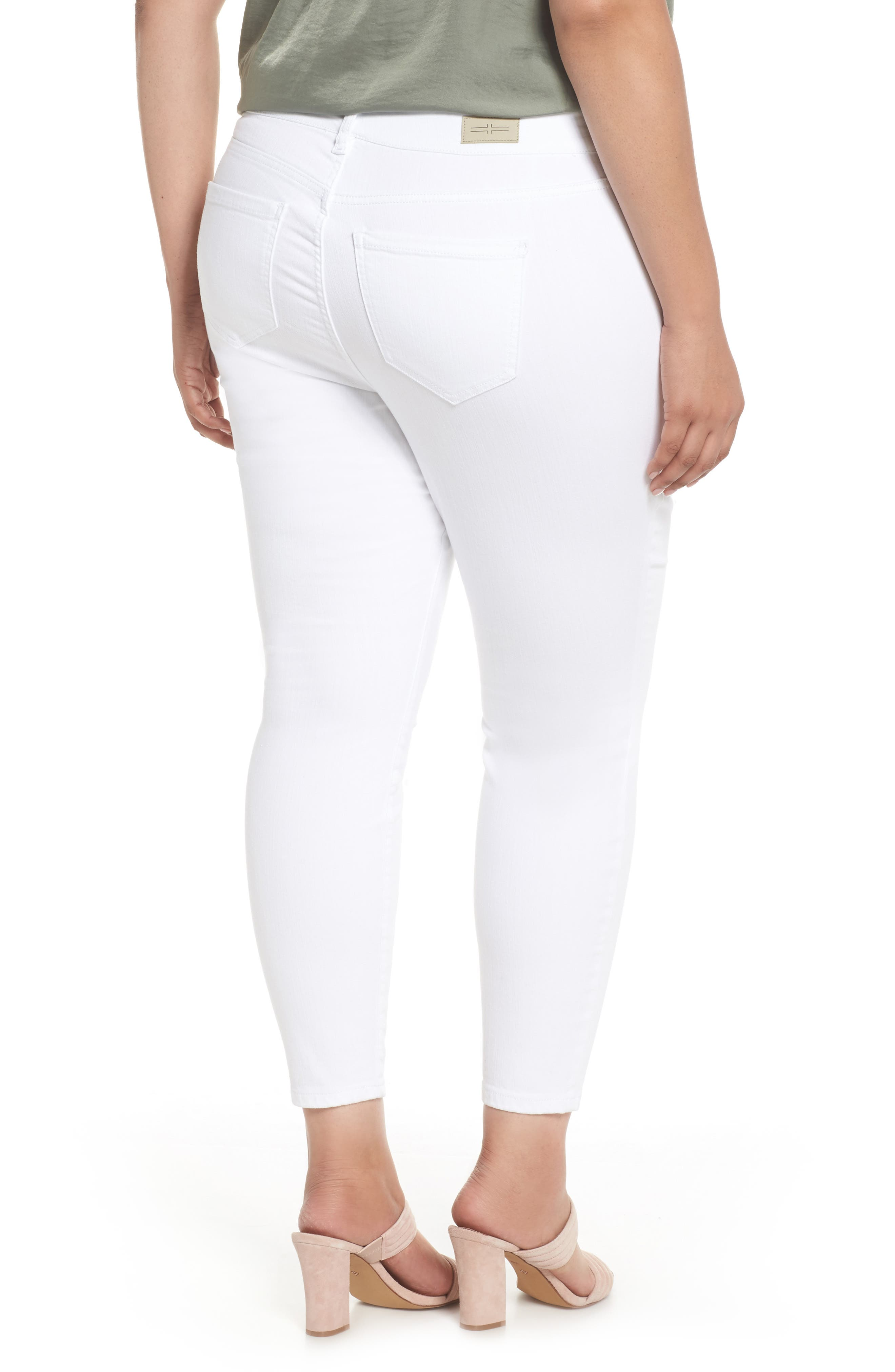 Penny Ankle Skinny Jeans,                             Alternate thumbnail 2, color,                             Bright White