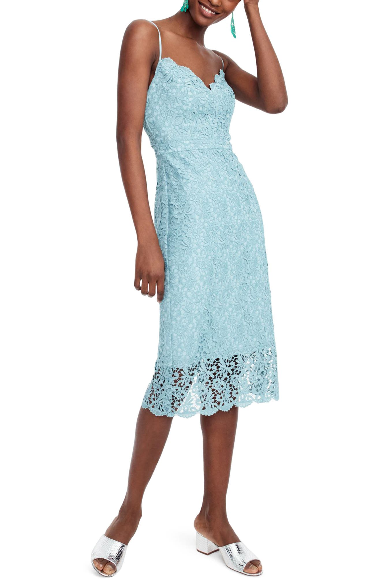 J.Crew Guipure Lace Spaghetti Strap Dress