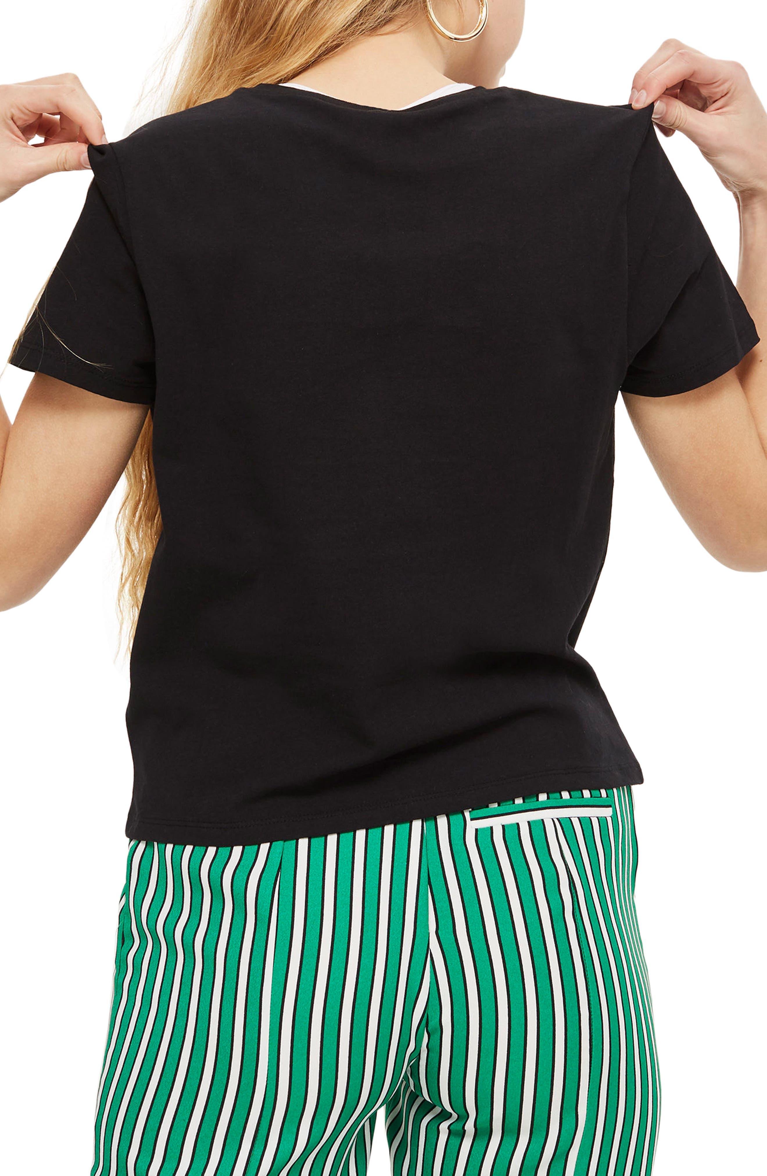 Alligator T-Shirt,                             Alternate thumbnail 2, color,                             Black Multi