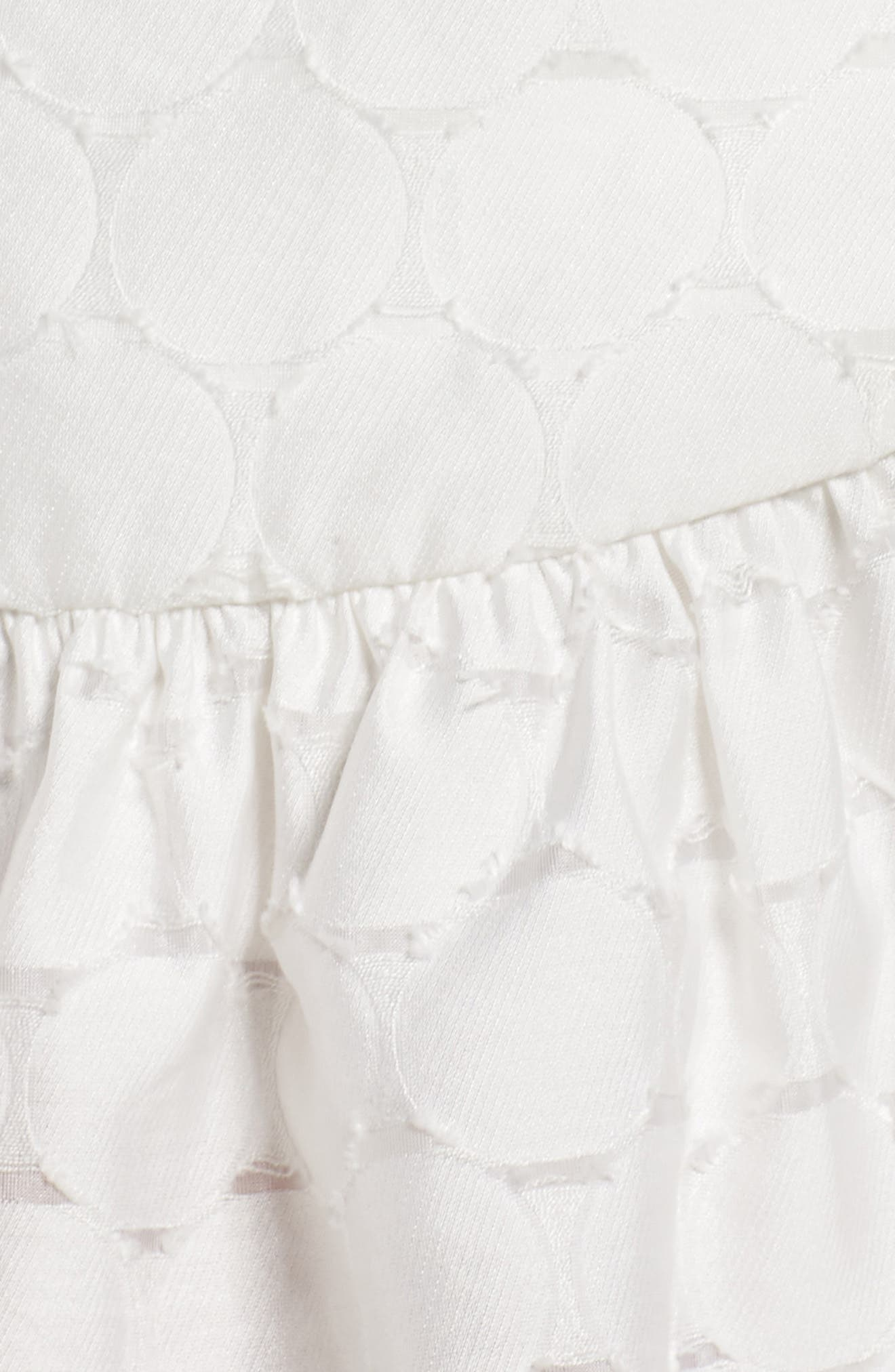 Magnetise Jacquard Minidress,                             Alternate thumbnail 6, color,                             Ivory