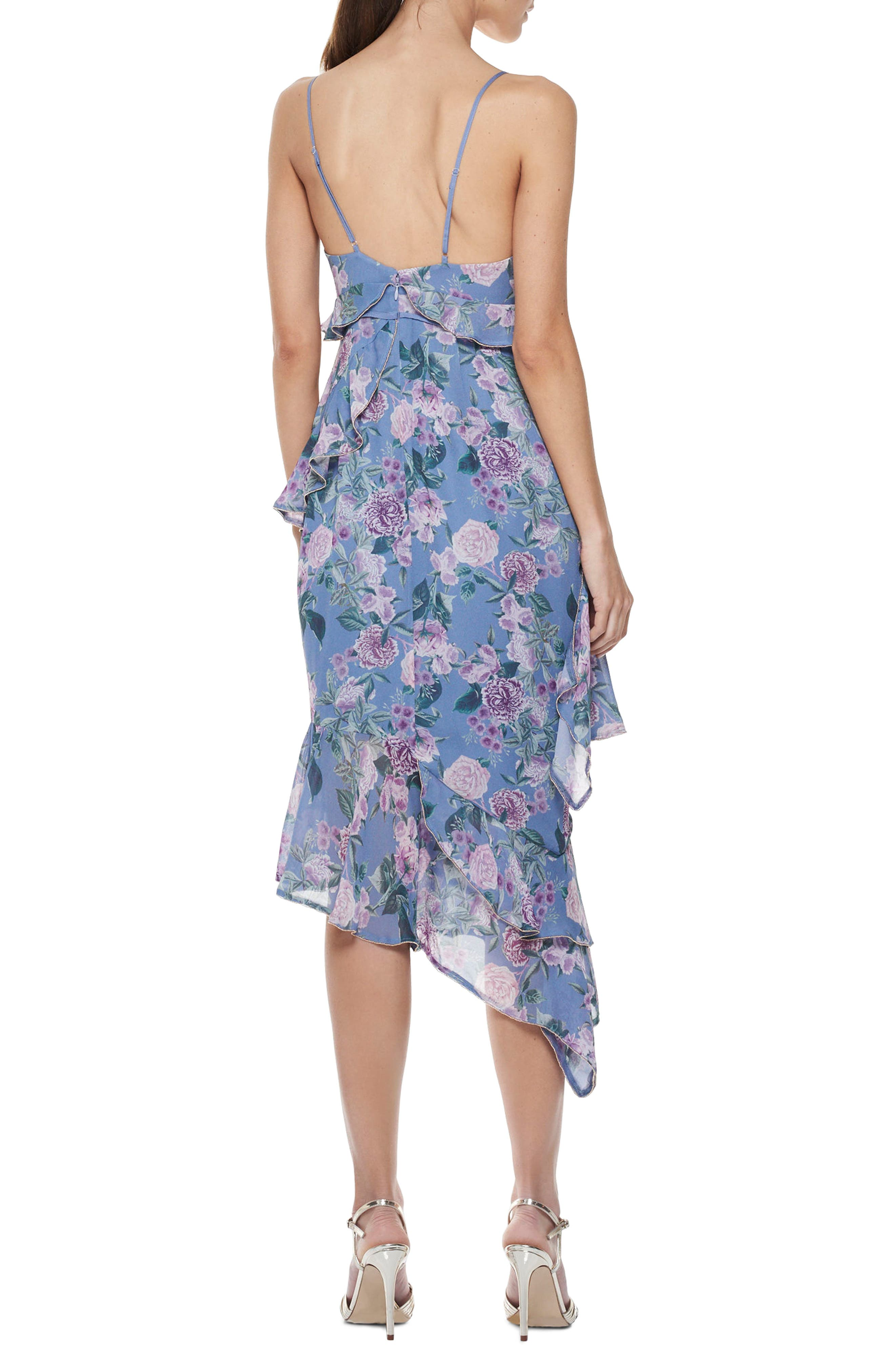 Here & Now Asymmetric Midi Dress,                             Alternate thumbnail 2, color,                             Print