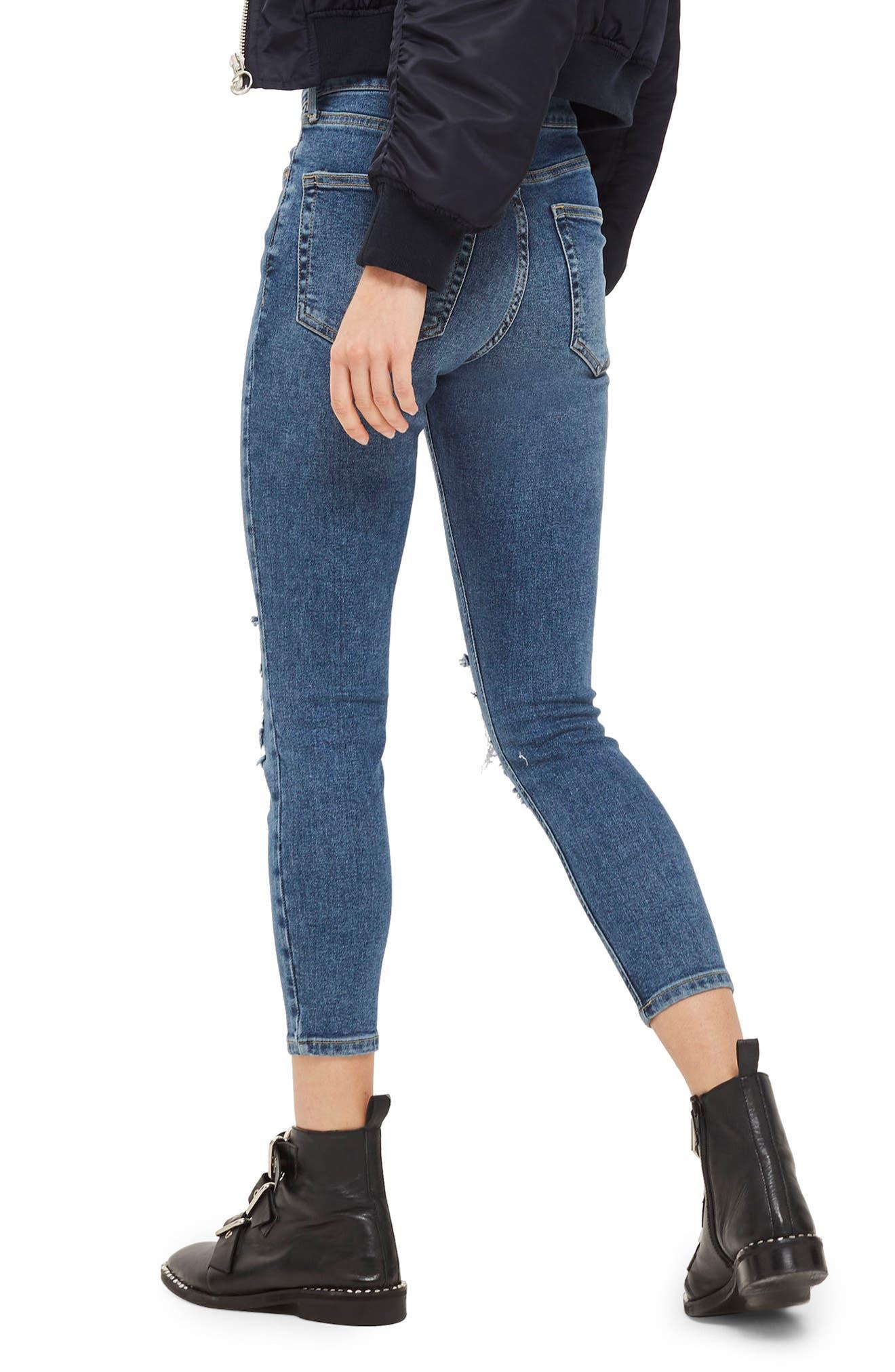 Jamie Petite Ripped Jeans,                             Alternate thumbnail 2, color,                             Mid Denim