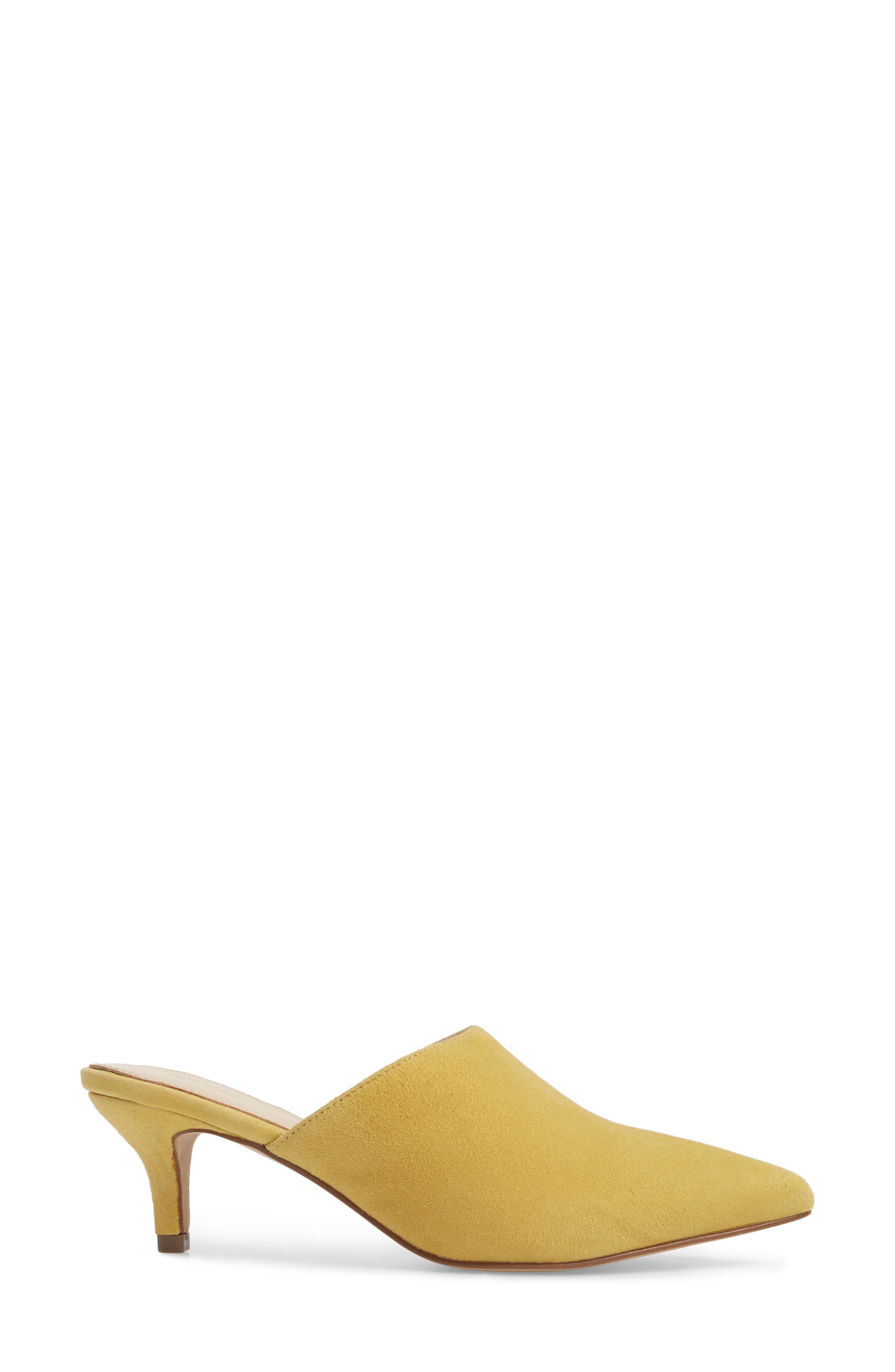Paley Mule,                             Alternate thumbnail 3, color,                             Pineapple Suede
