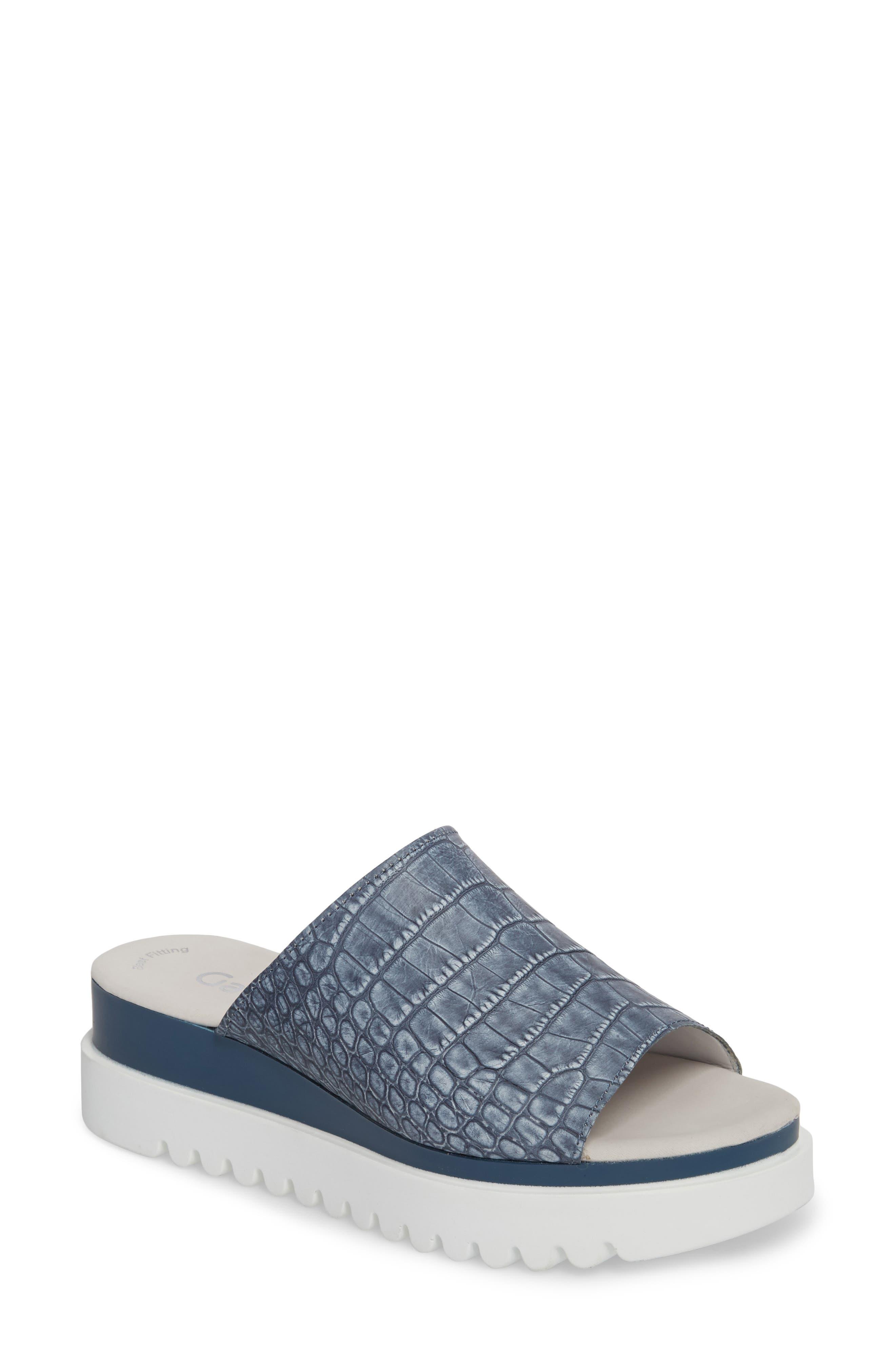 Gabor Platform Slide Sandal (Women)