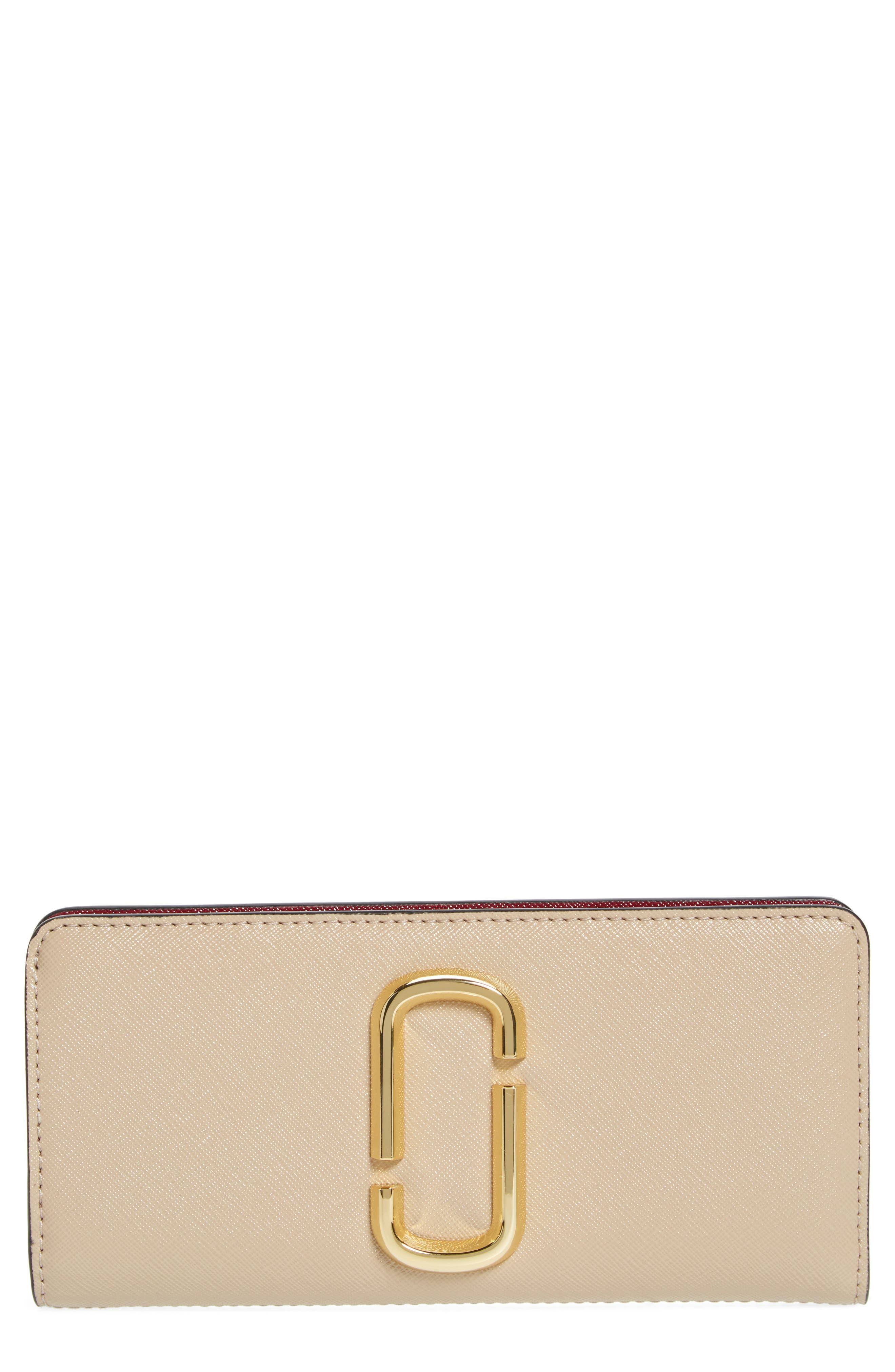 Snapshot Open Face Leather Wallet,                         Main,                         color, Light Slate Multi
