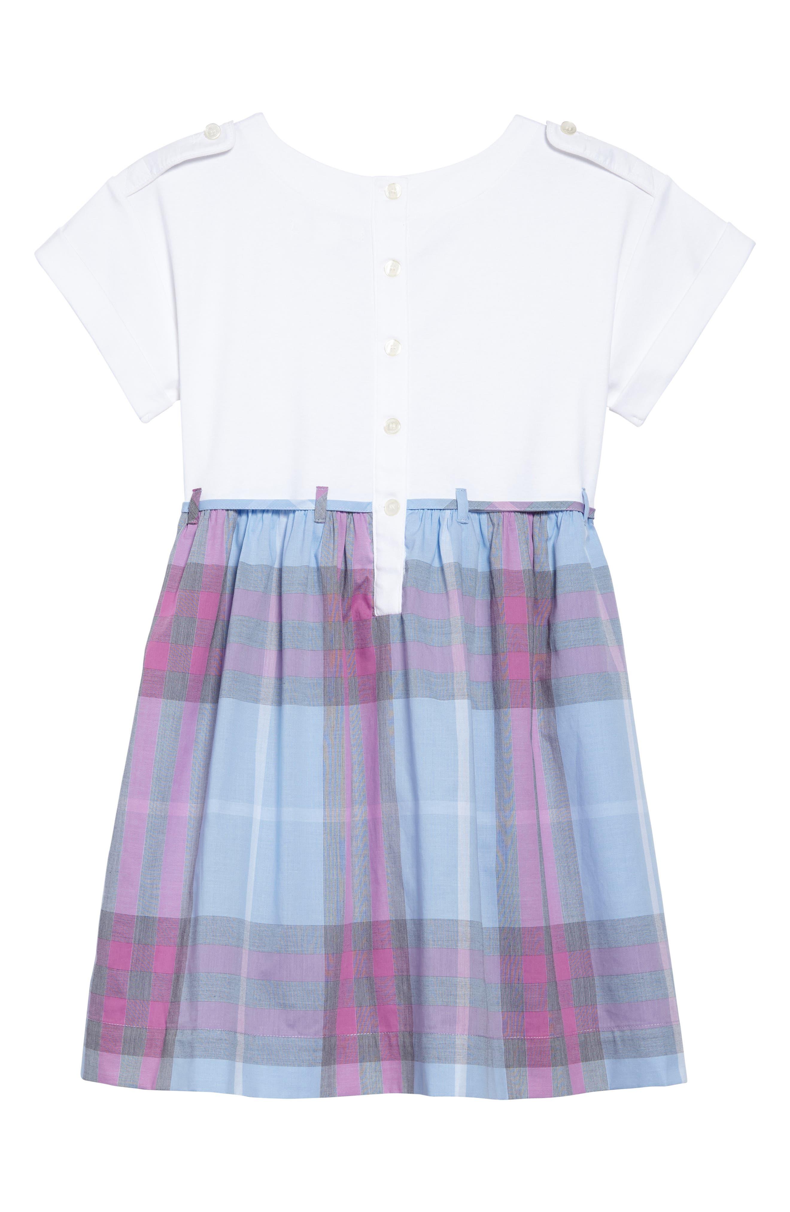 Alternate Image 2  - Burberry Rhonda Check Dress (Little Girls & Big Girls)