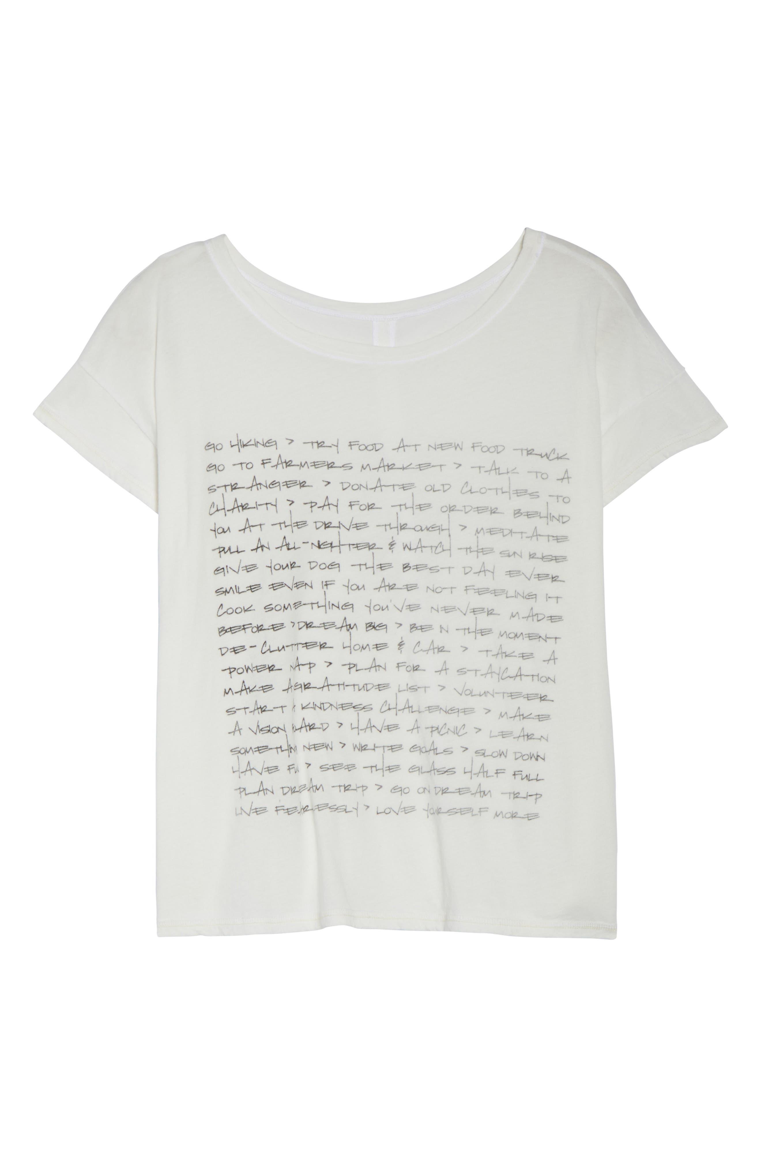 Claire To Do List Graphic Shirt,                             Alternate thumbnail 7, color,                             Salt