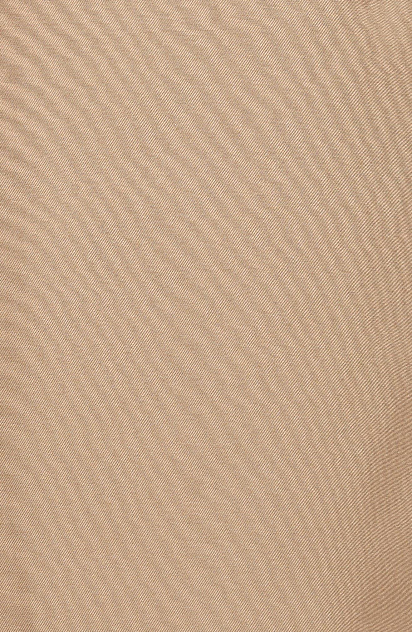 Midi Trench Coat,                             Alternate thumbnail 6, color,                             Khaki
