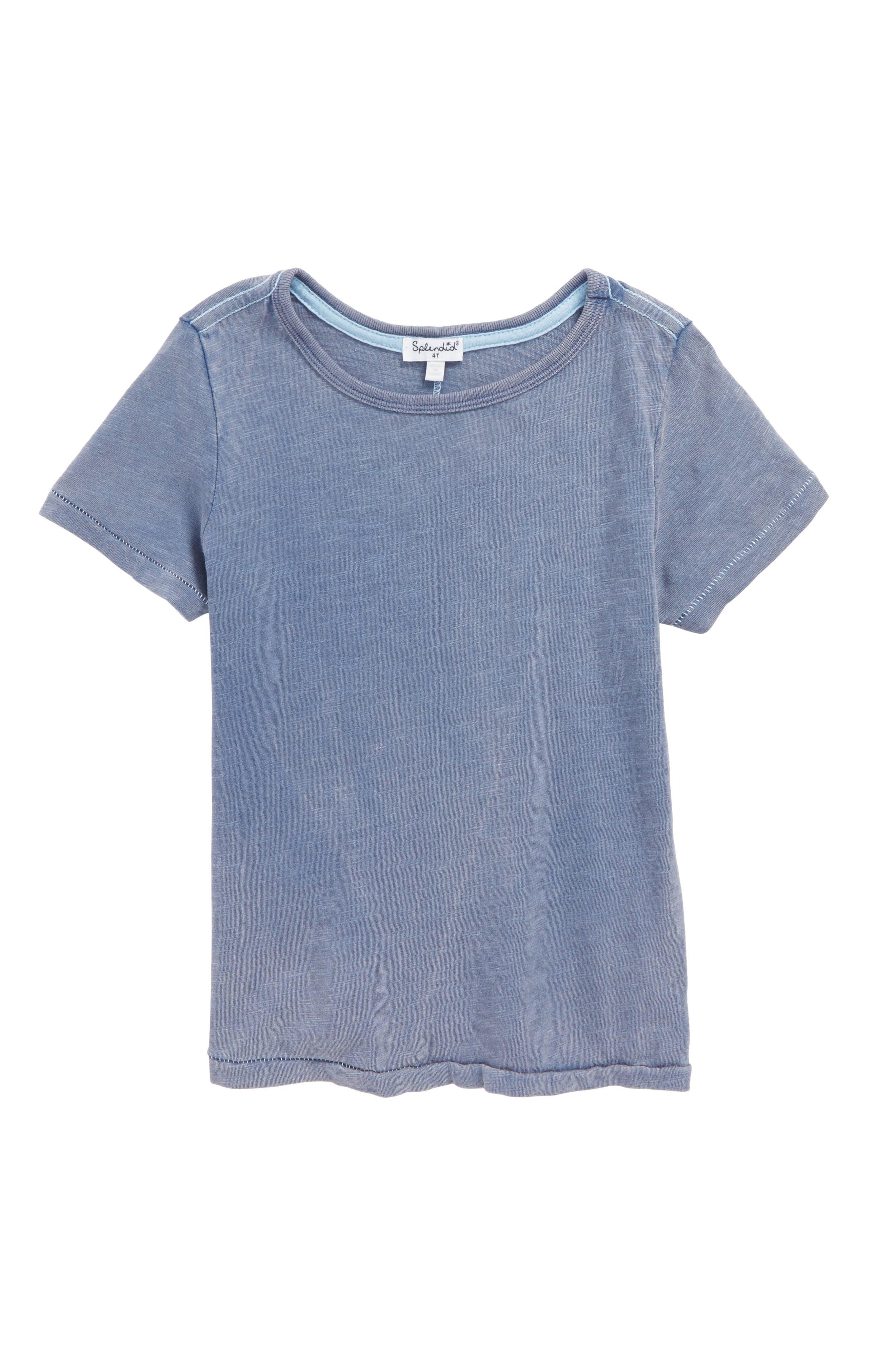 Washed Slub Jersey T-Shirt,                         Main,                         color, Indigo Fade