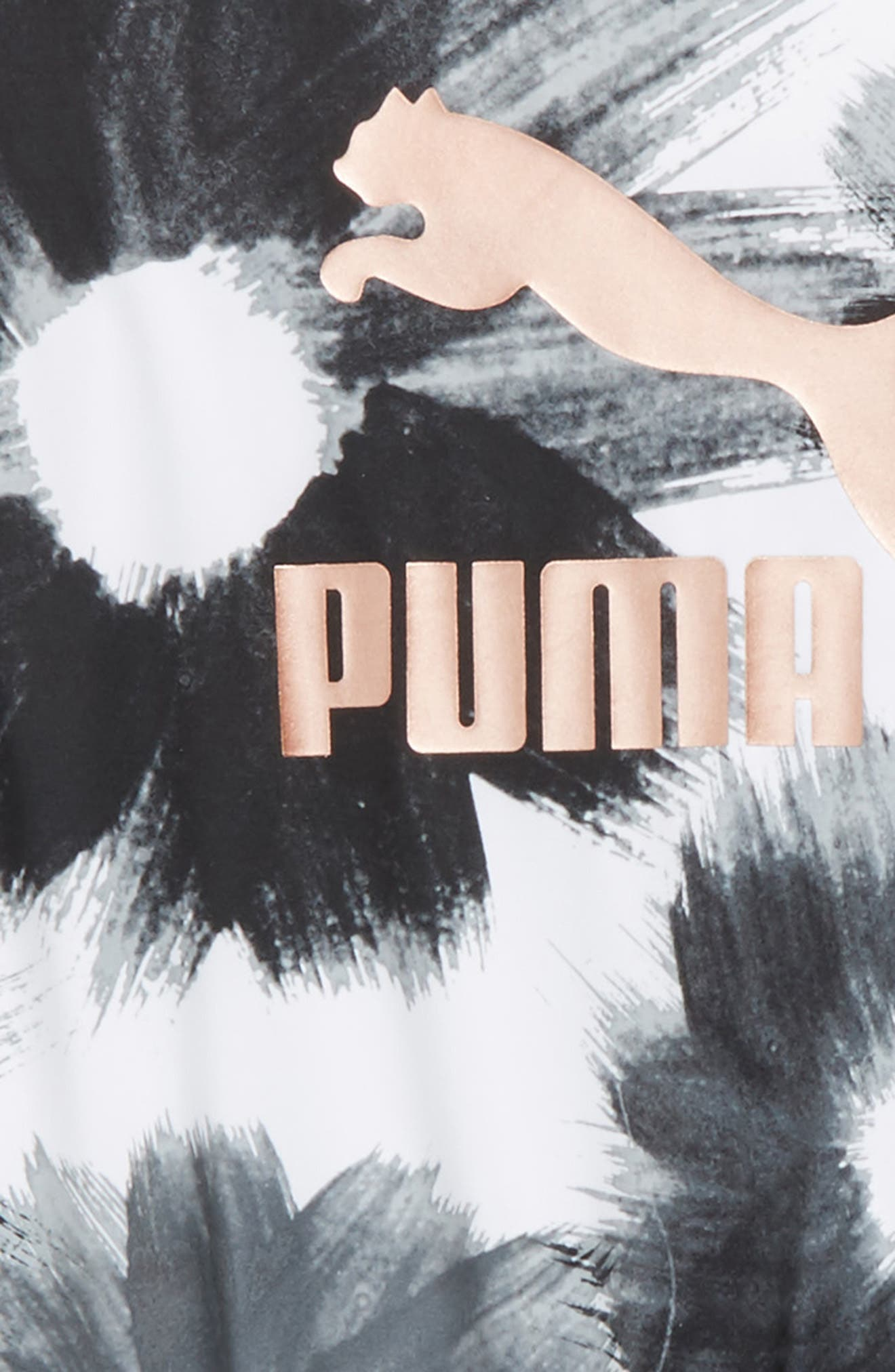 Extreme Floral Logo Romper,                             Alternate thumbnail 2, color,                             Puma White