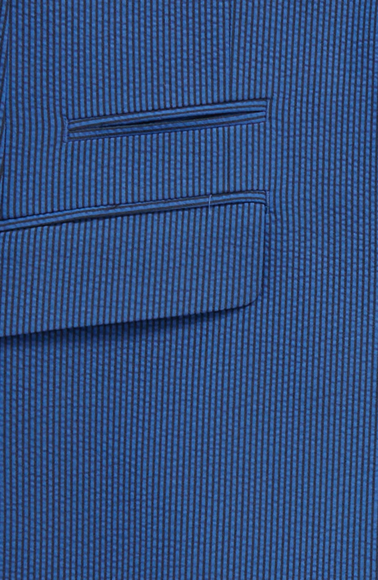 Skinny Fit Suit,                             Alternate thumbnail 2, color,                             Medium Blue