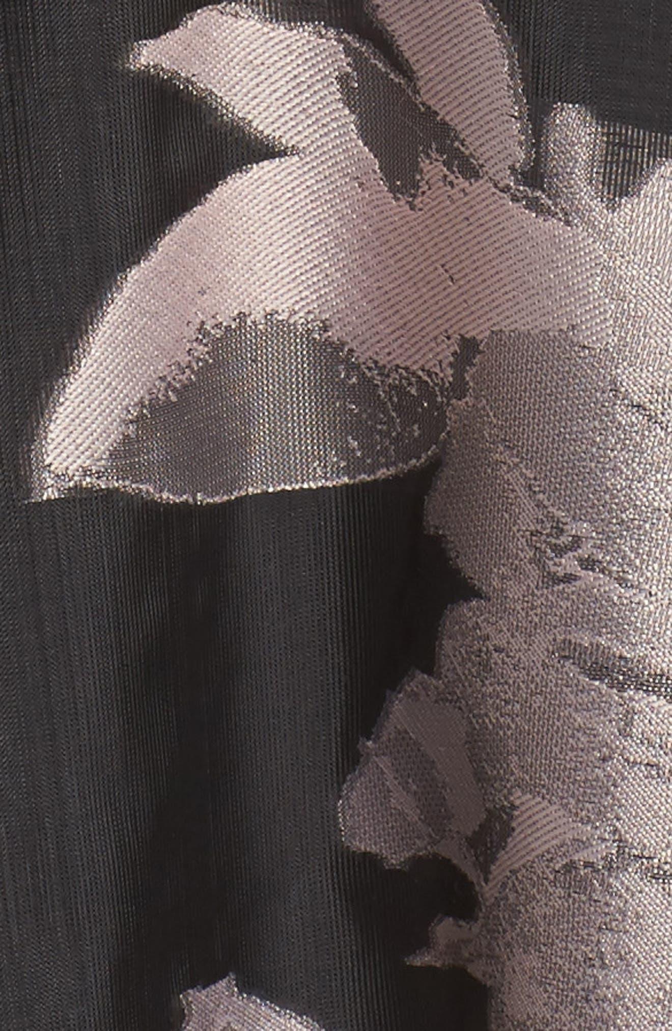 Off the Shoulder Ballgown,                             Alternate thumbnail 5, color,                             Black Blush