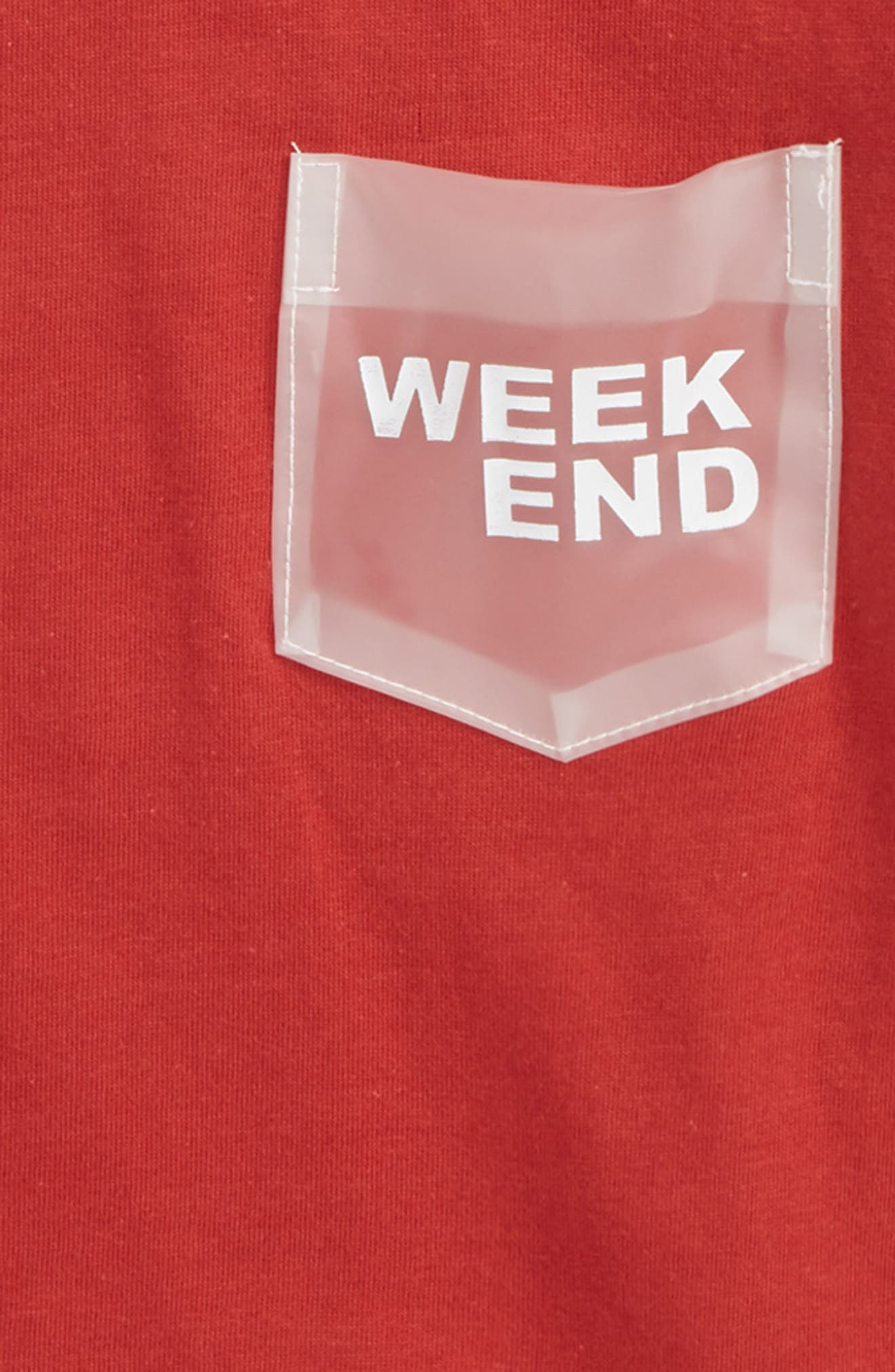 Lacy Pocket T-Shirt,                             Alternate thumbnail 2, color,                             Red