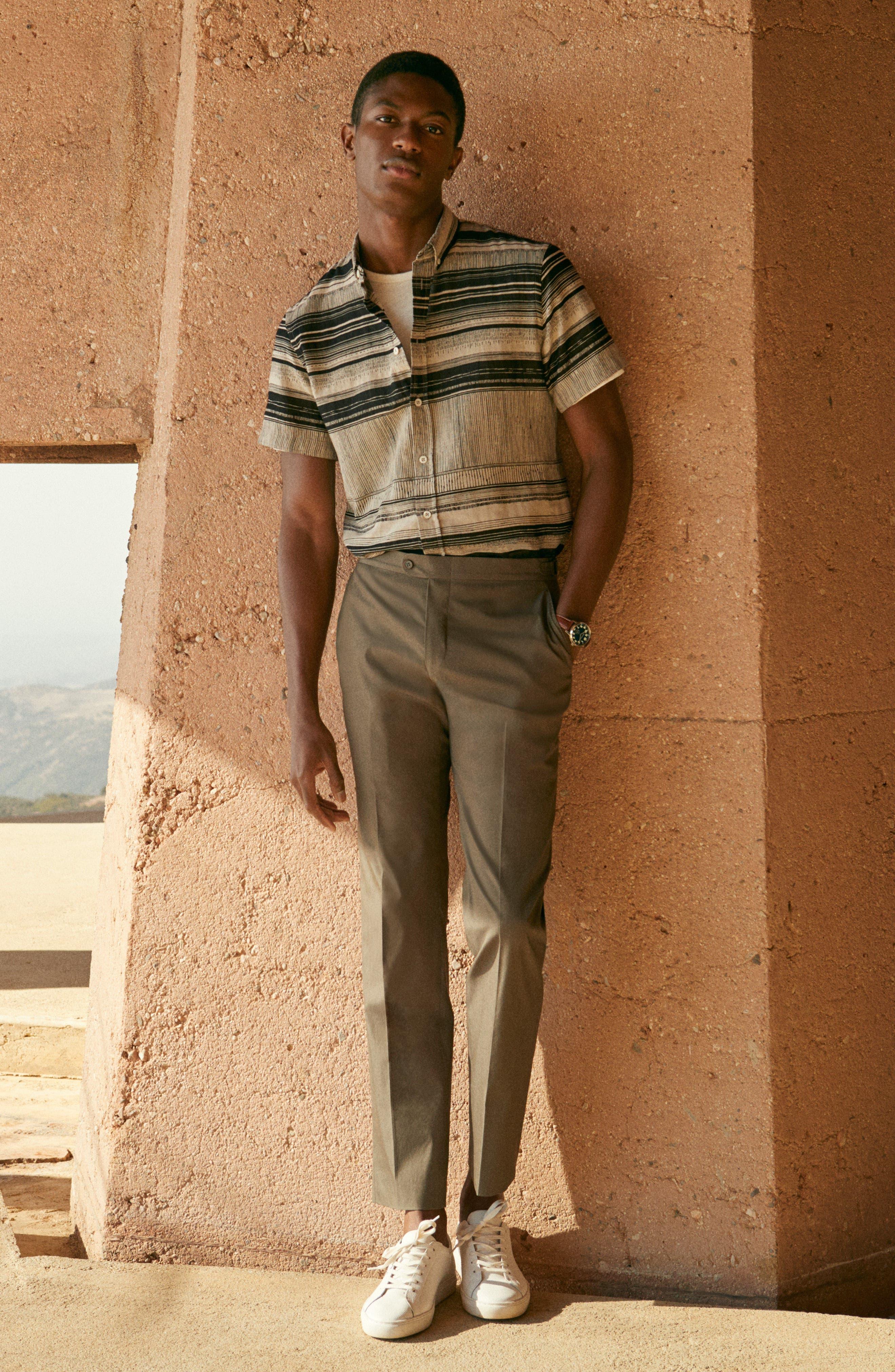Murphy Stripe Short Sleeve Sport Shirt,                             Alternate thumbnail 6, color,