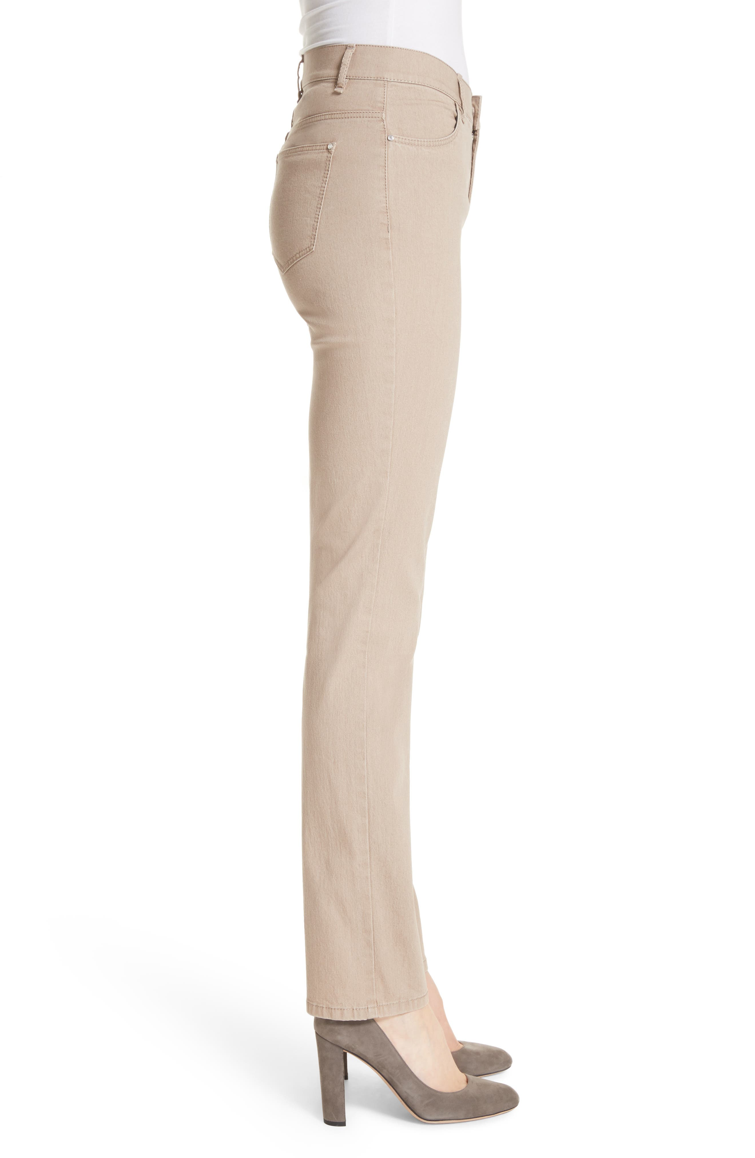 'Primo Denim' Curvy Fit Slim Leg Jeans,                             Alternate thumbnail 3, color,                             Pumice