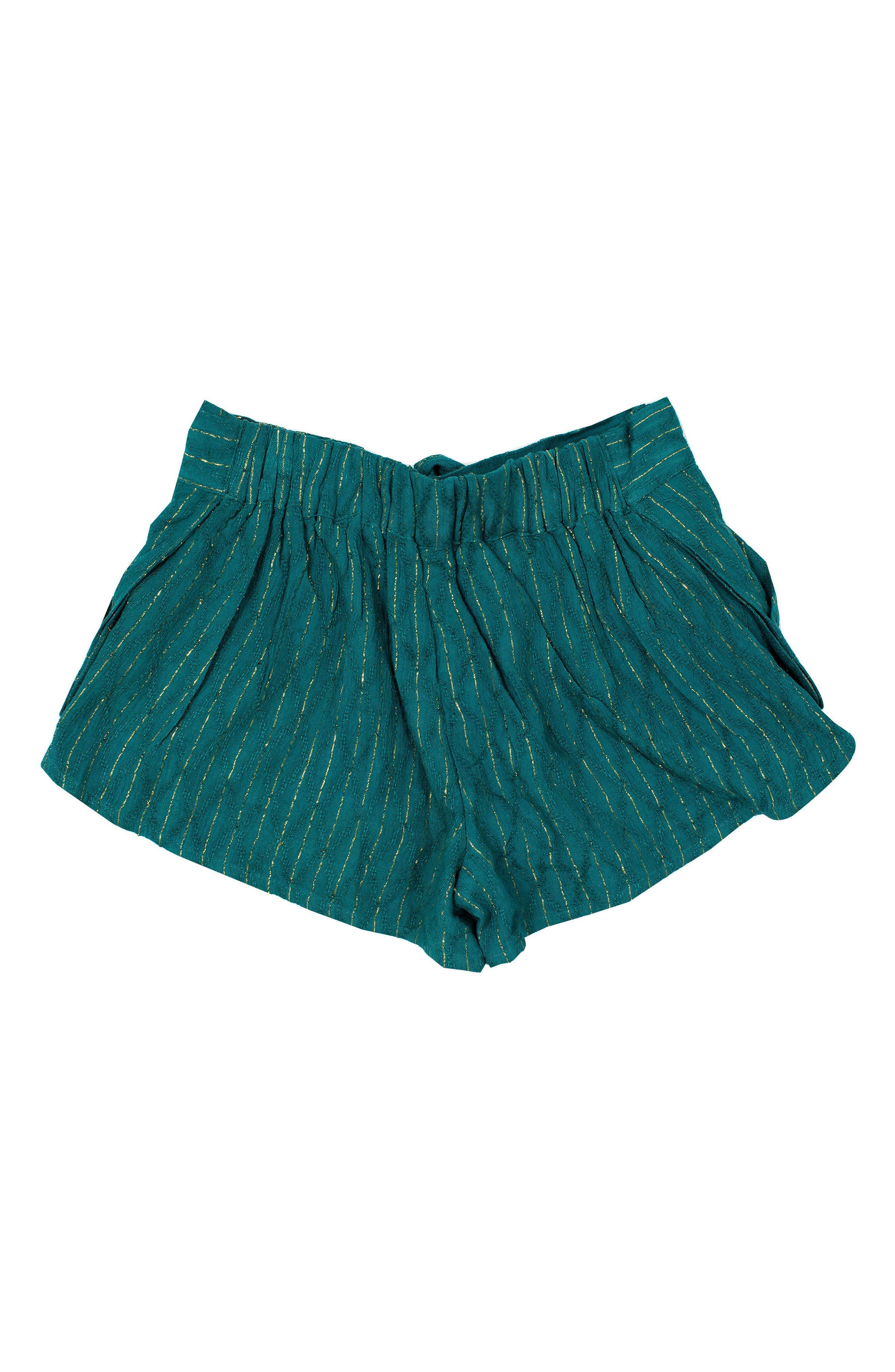 Eclipse Metallic Stripe Shorts,                             Alternate thumbnail 2, color,                             Sage Green