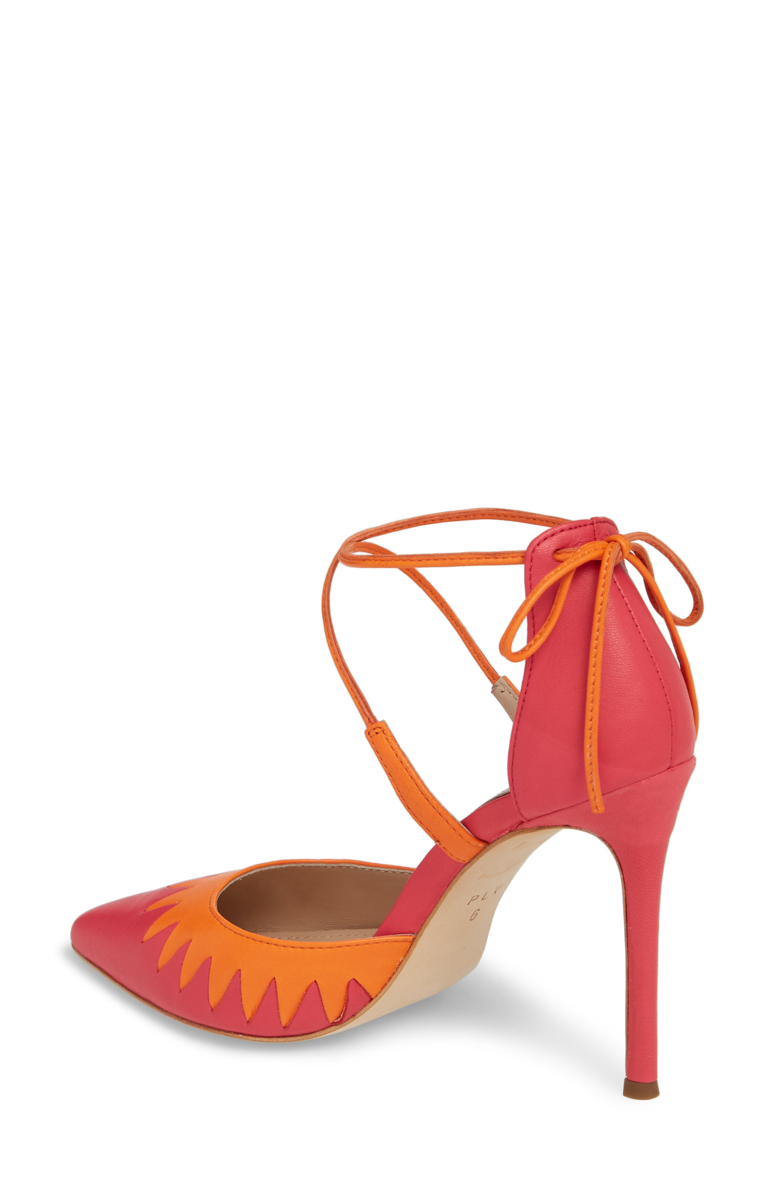Cenya Pump,                             Alternate thumbnail 2, color,                             Azalea/ Orange Blossom Leather