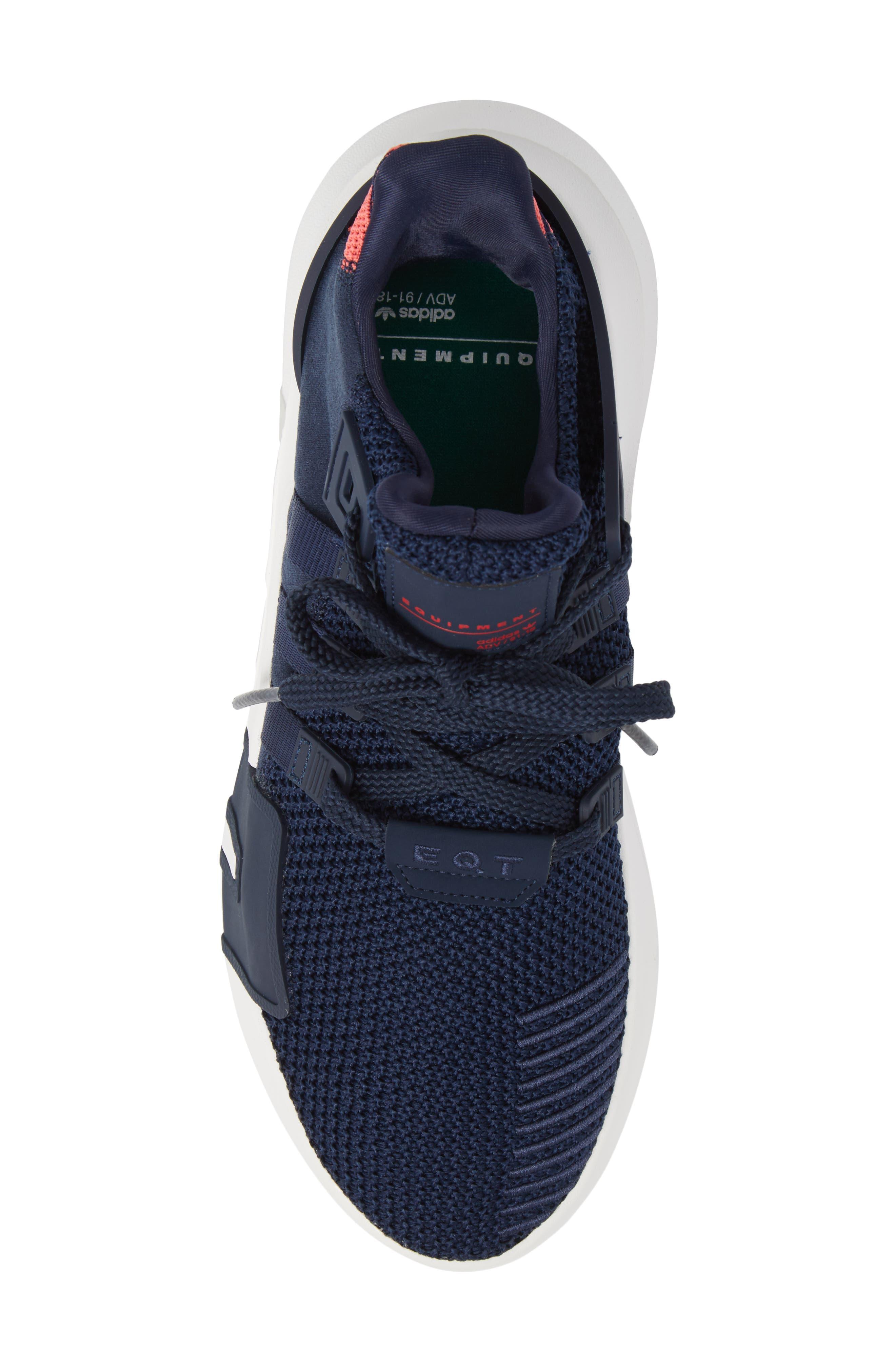 EQT Basketball ADV Sneaker,                             Alternate thumbnail 5, color,                             Collegiate Navy/ Real Coral