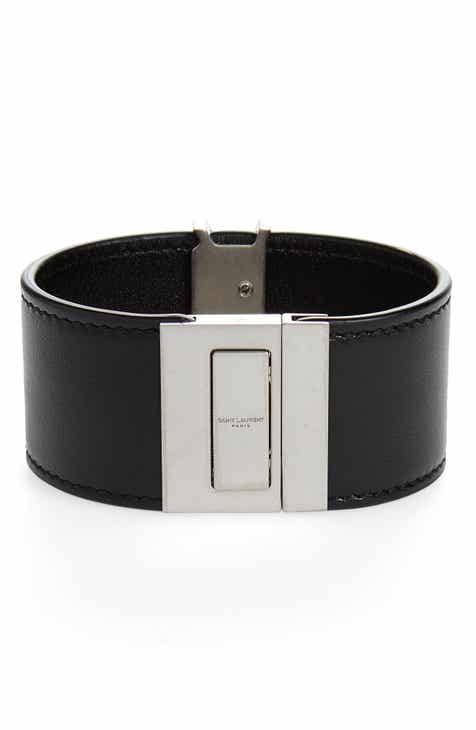 Saint Lau Leather Cuff Bracelet