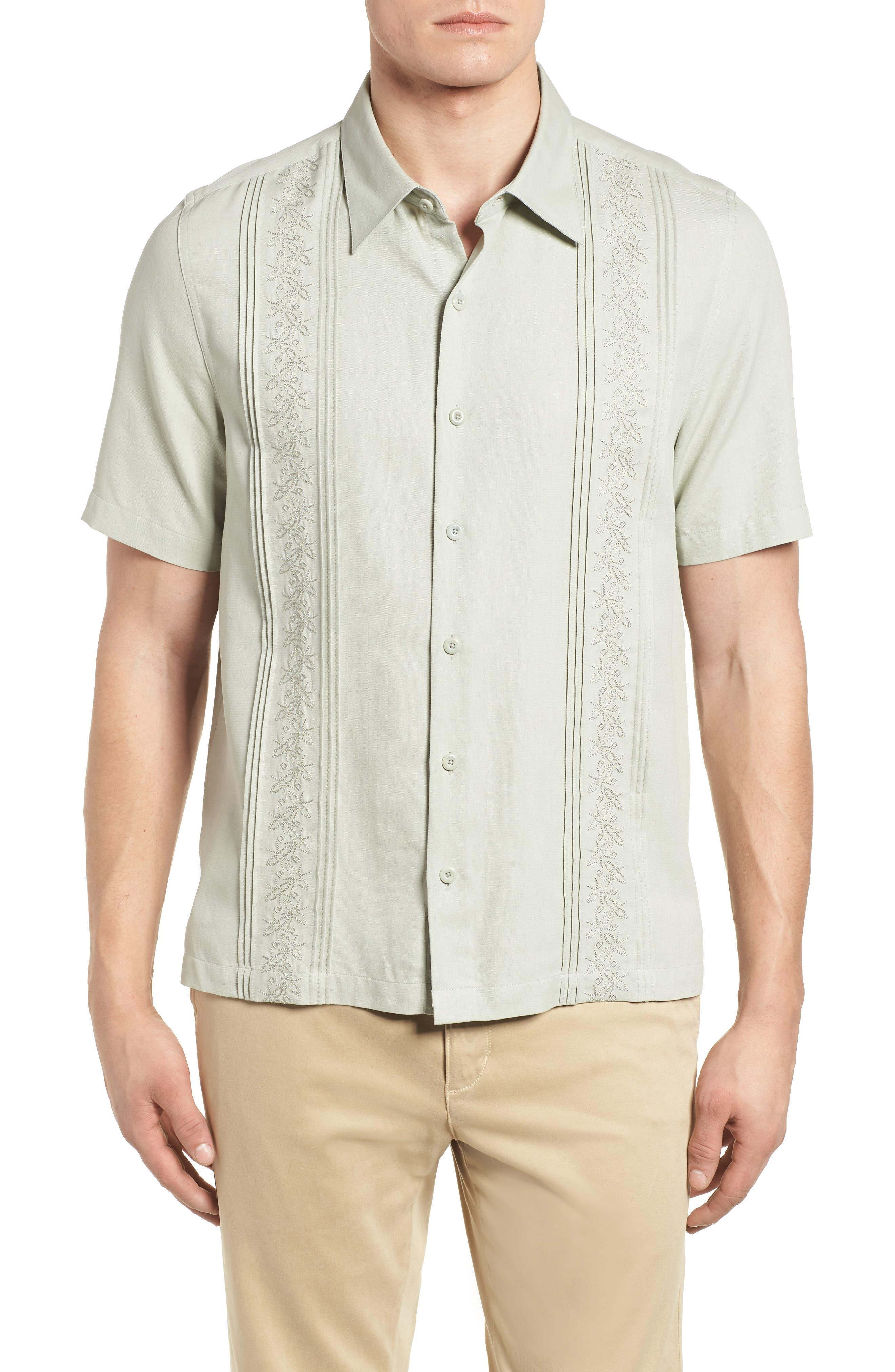 La Fleur Camp Shirt,                             Main thumbnail 1, color,                             Carbon
