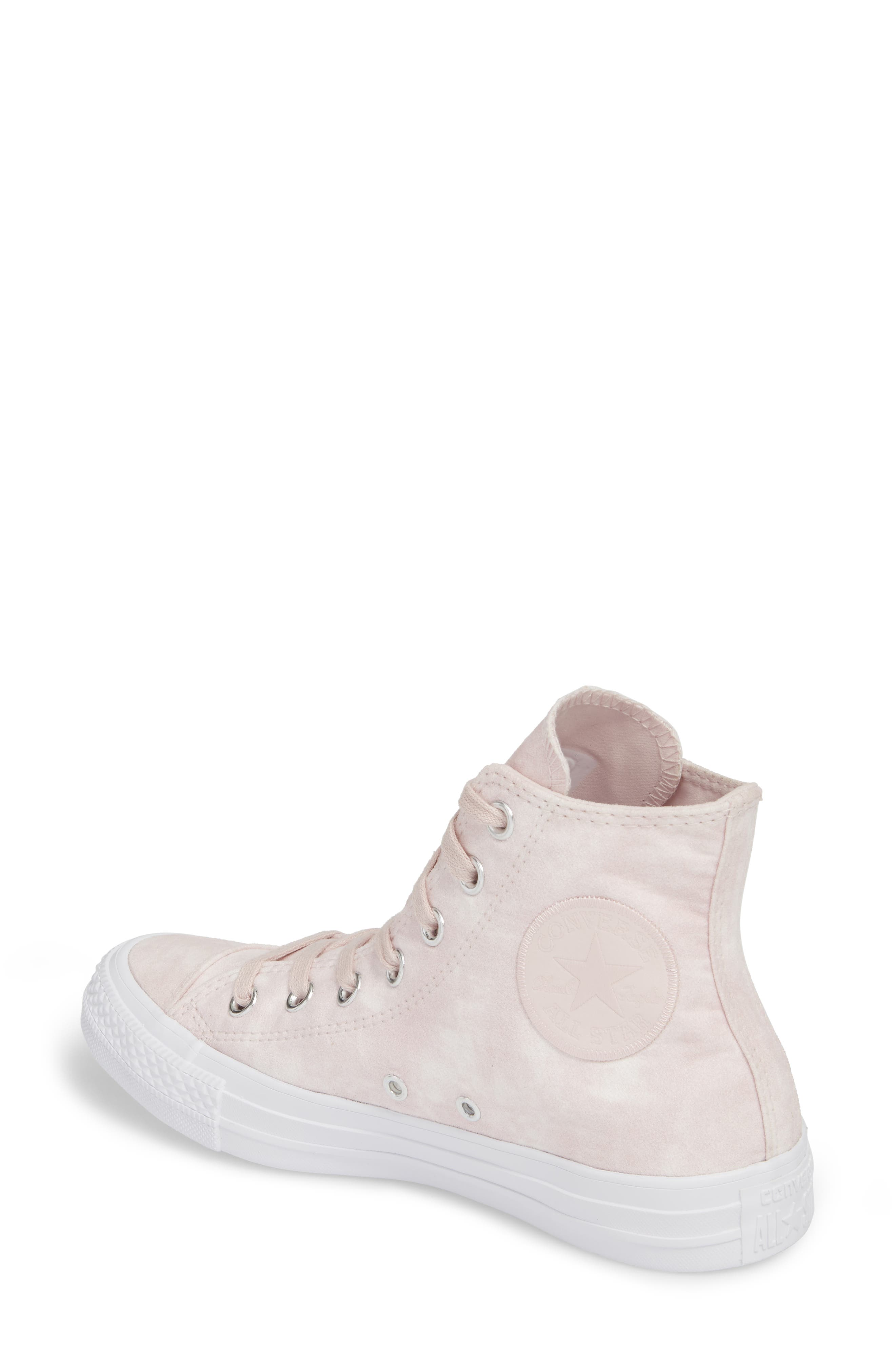 Chuck Taylor<sup>®</sup> All Star<sup>®</sup> Peached High Top Sneaker,                             Alternate thumbnail 2, color,                             Barely Rose