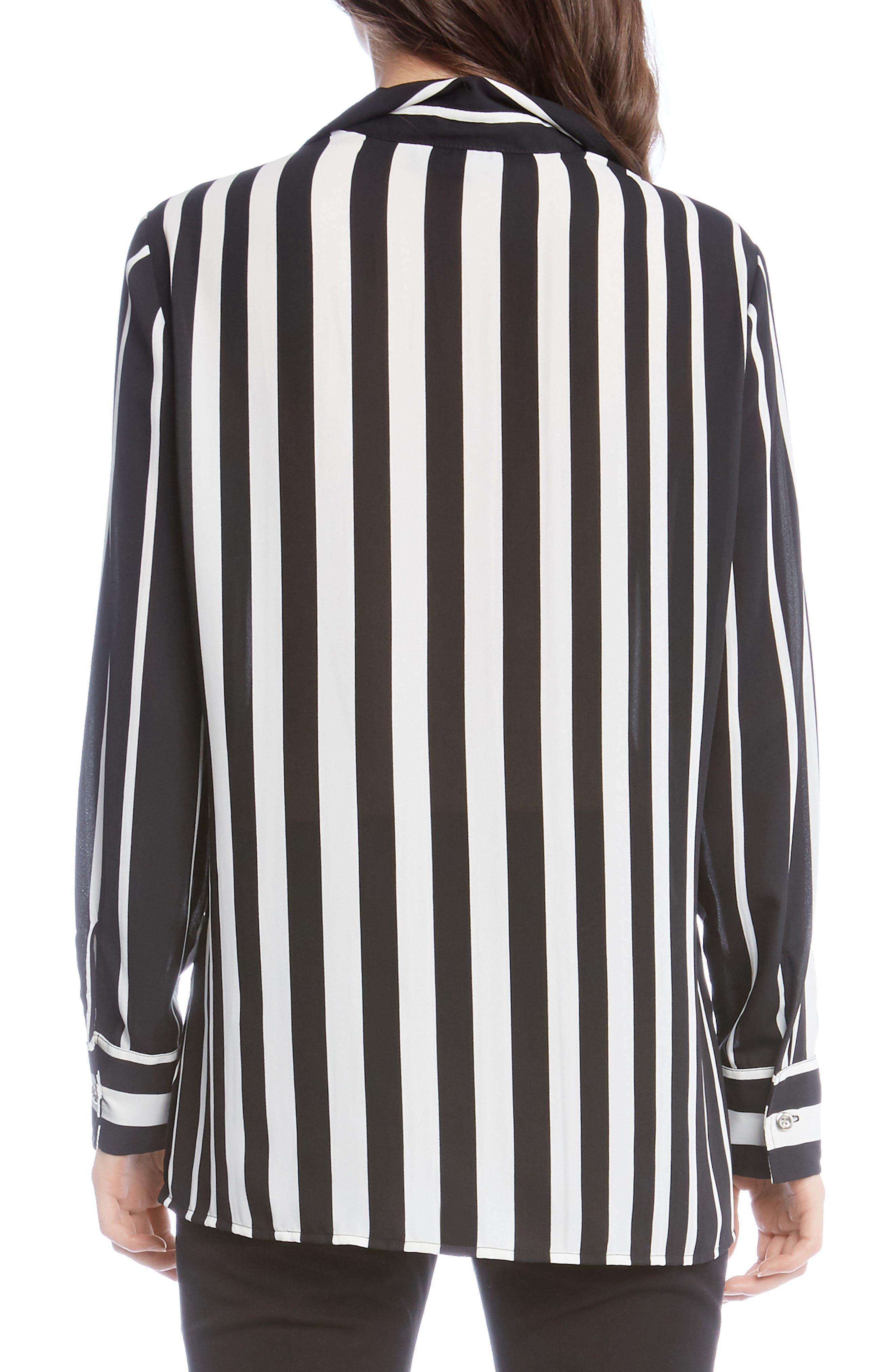 Side Slit Stripe Shirt,                             Alternate thumbnail 2, color,                             Striped