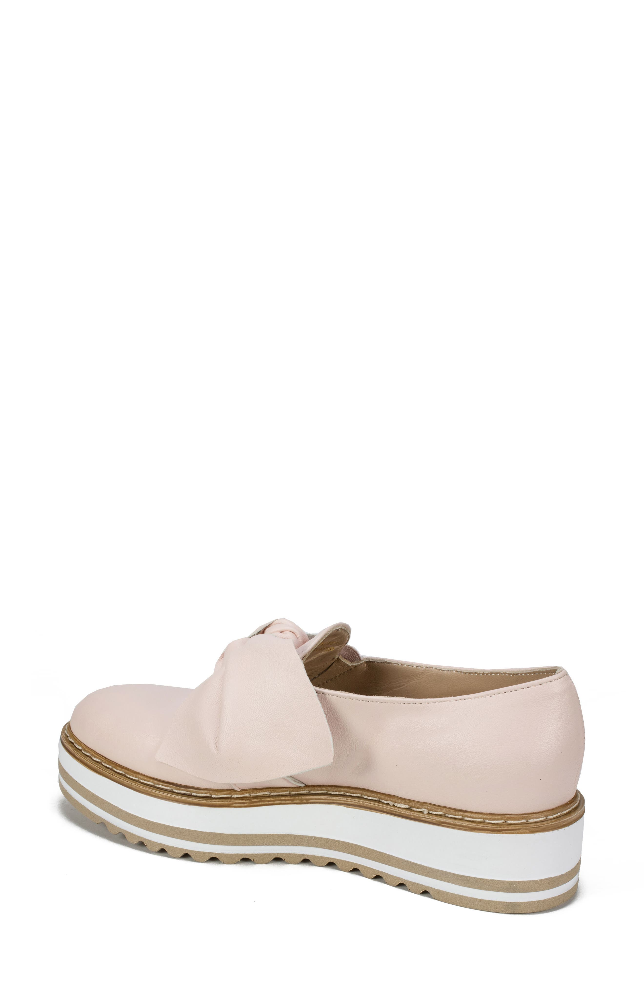 Bella Platform Loafer,                             Alternate thumbnail 2, color,                             Pink Leather
