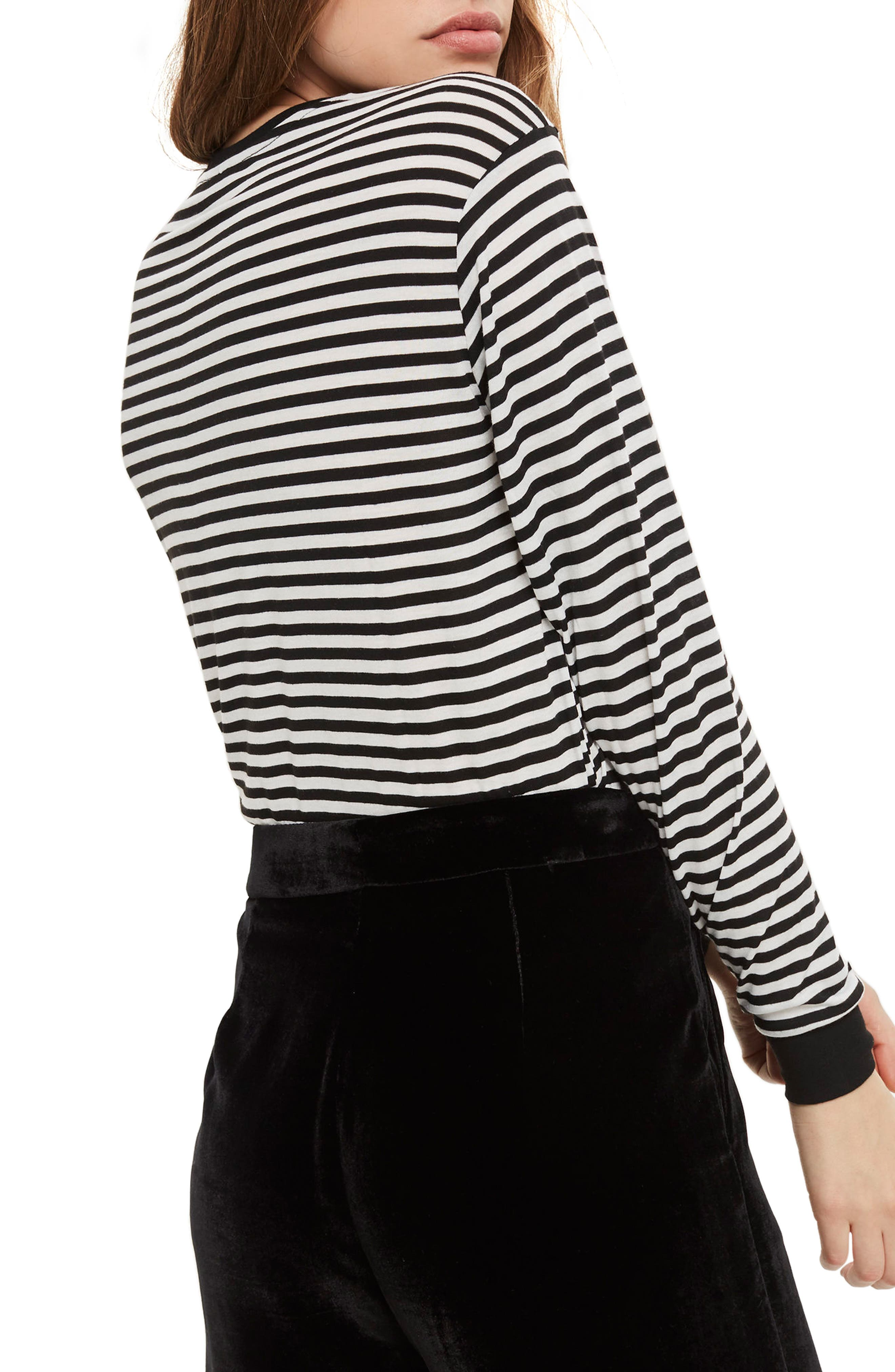 Ciao Embroidered Stripe Shirt,                             Alternate thumbnail 3, color,                             Black Multi