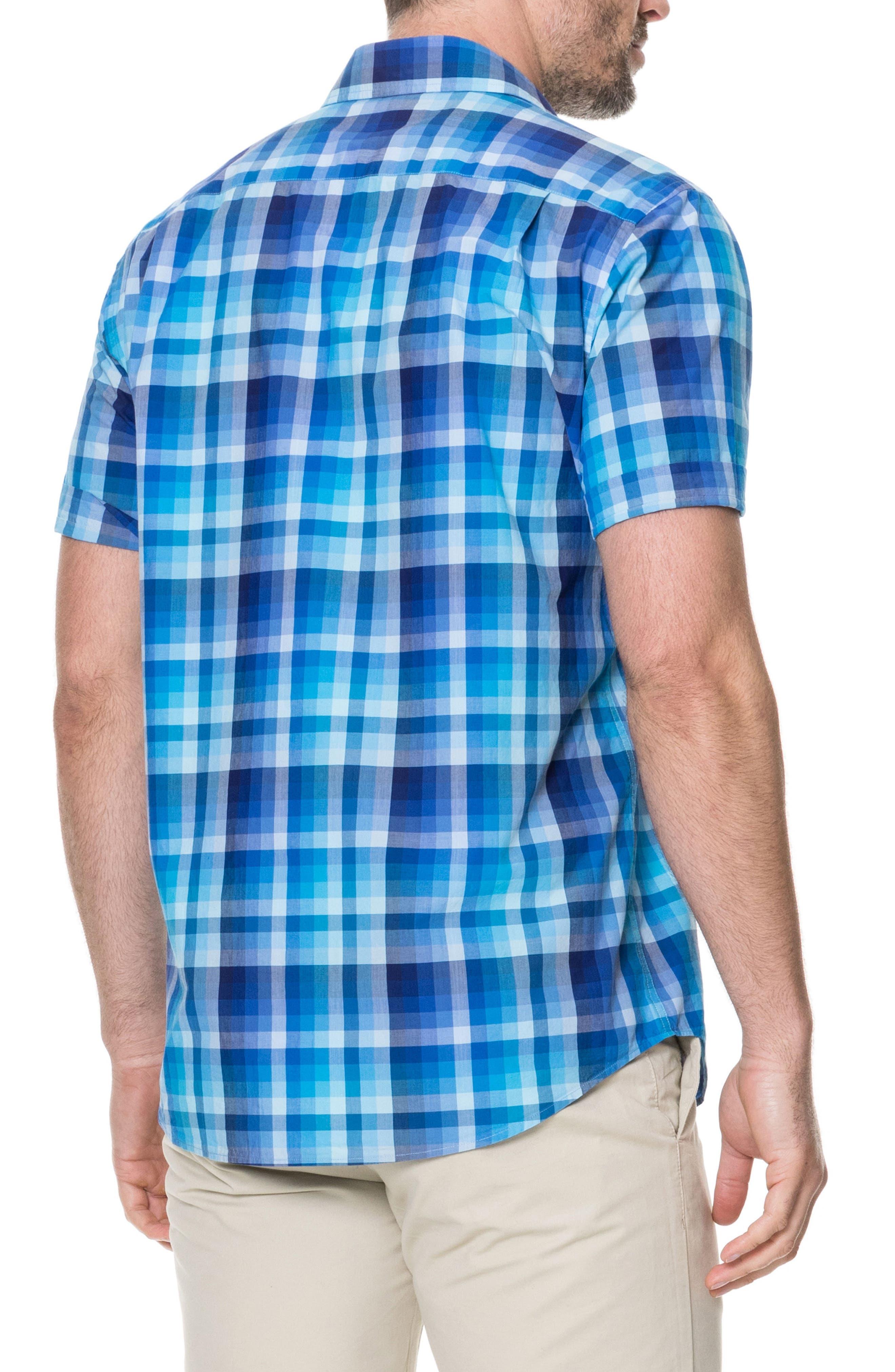 Elderslie Regular Fit Sport Shirt,                             Alternate thumbnail 3, color,                             Ocean